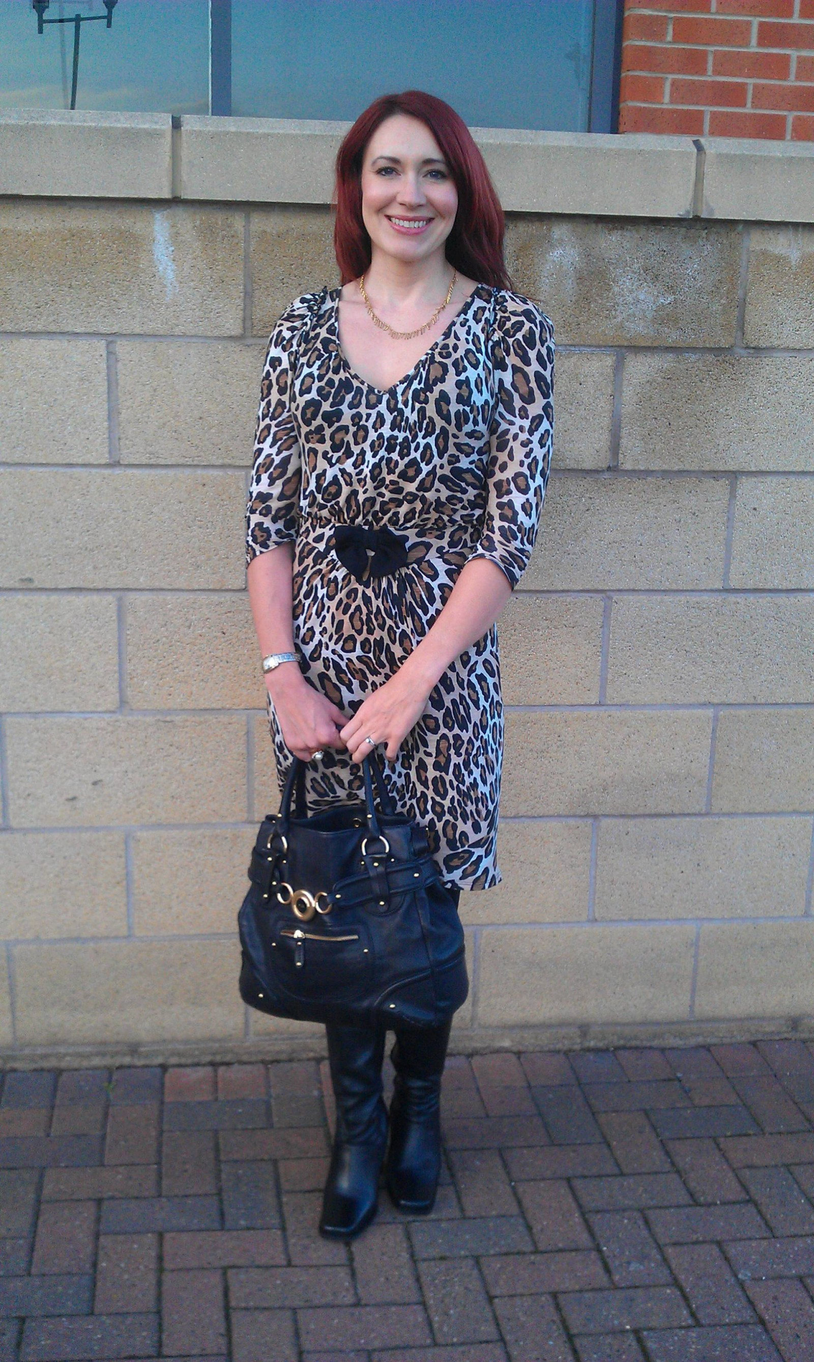 Leopard print Zara dress