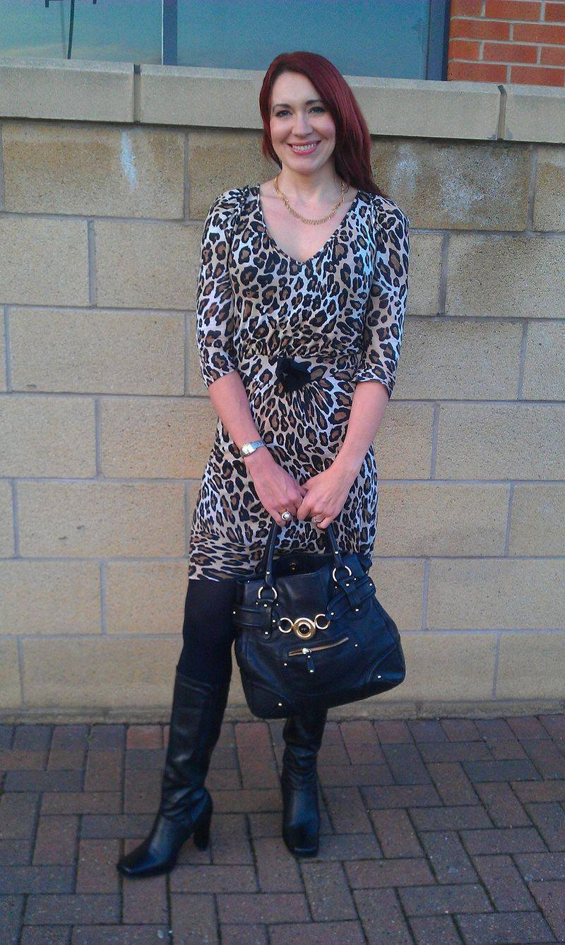 Zara leopard print bow dress