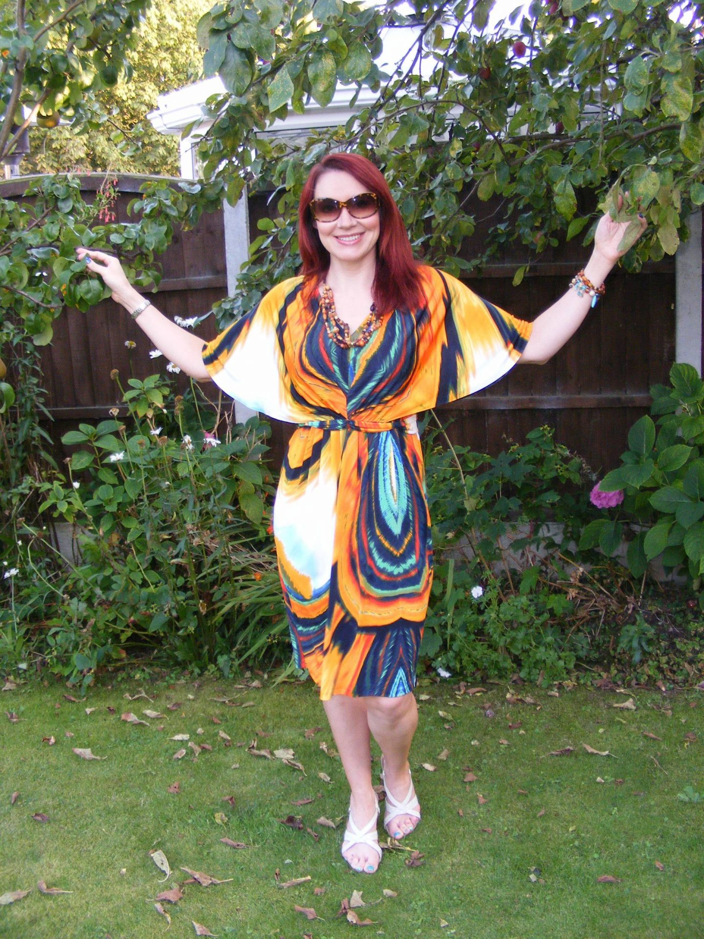The bargain five pounds dress that makes me feel like a butterfly, Marks and Spencer cape dress