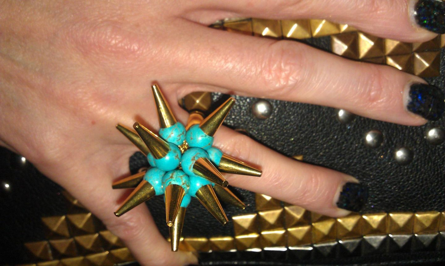 Merle O'Grady spike ring