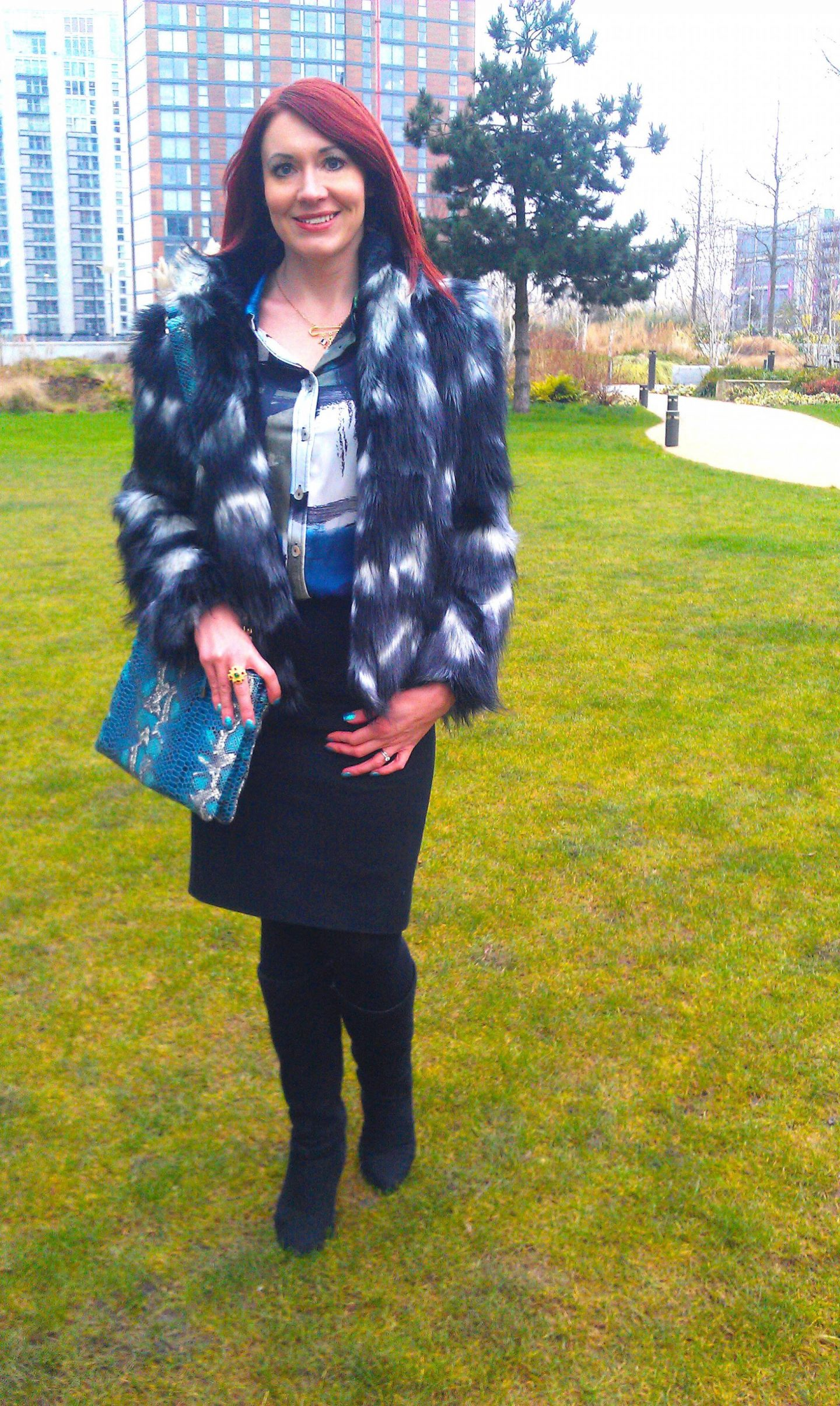 Super Furry Animal, Matalan faux fur coat, Mary Portas shirt