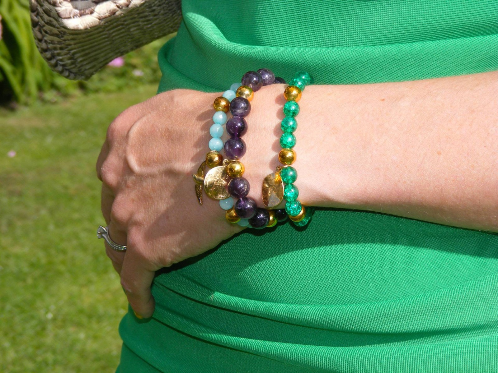 glass diy bead bracelets