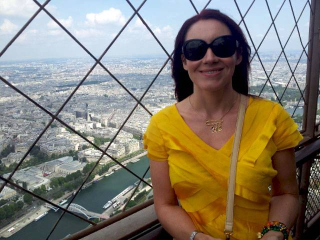 Eiffel Tower at the top