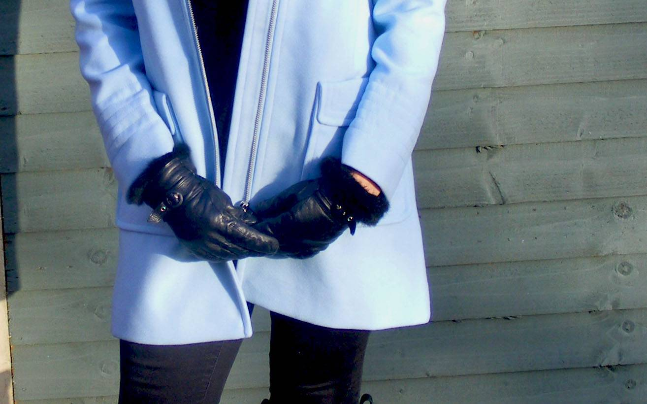 Black leather marks and Spencer gloves