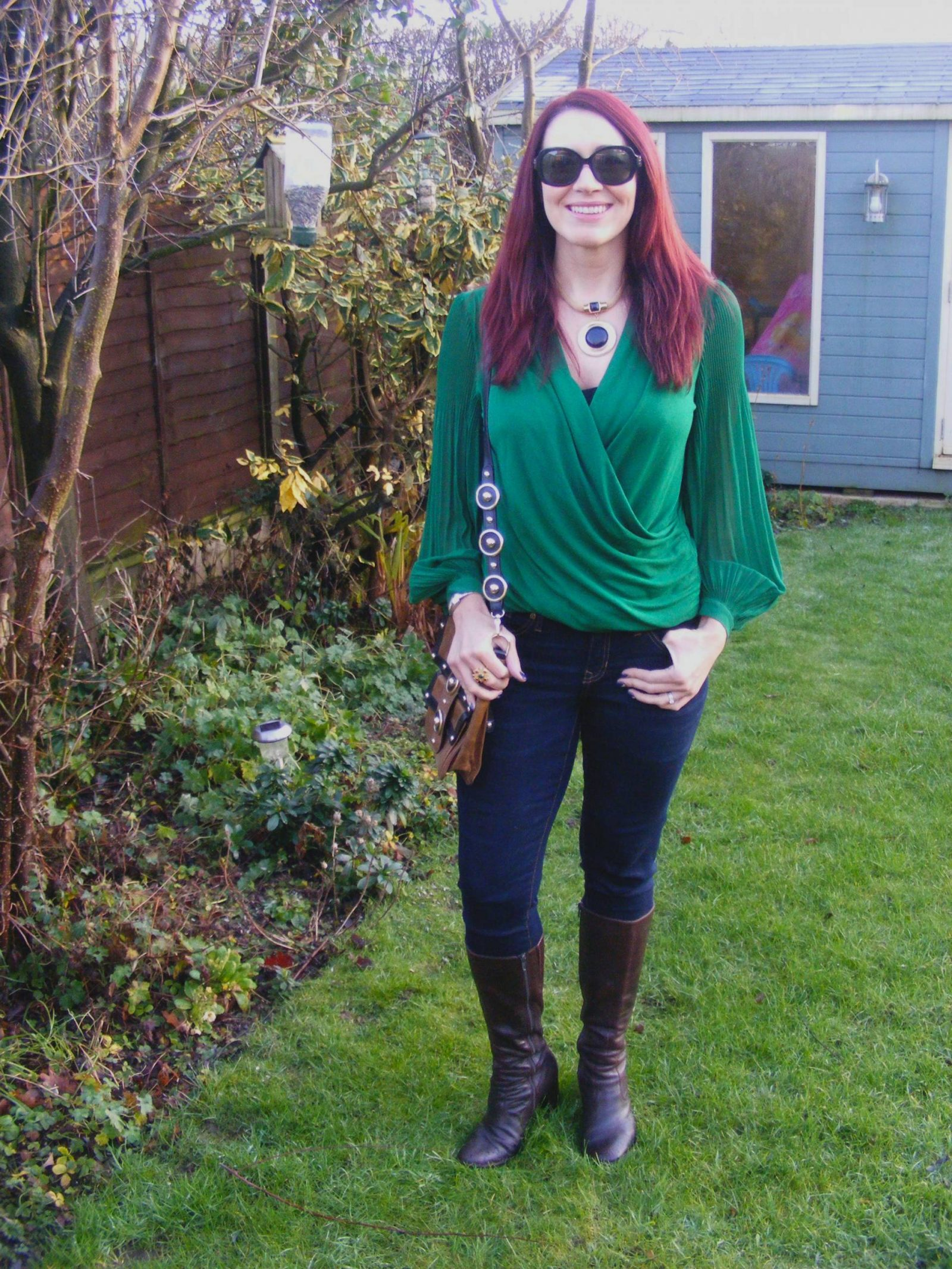 Green Jasper Conran Top and Temperley London Messenger Bag