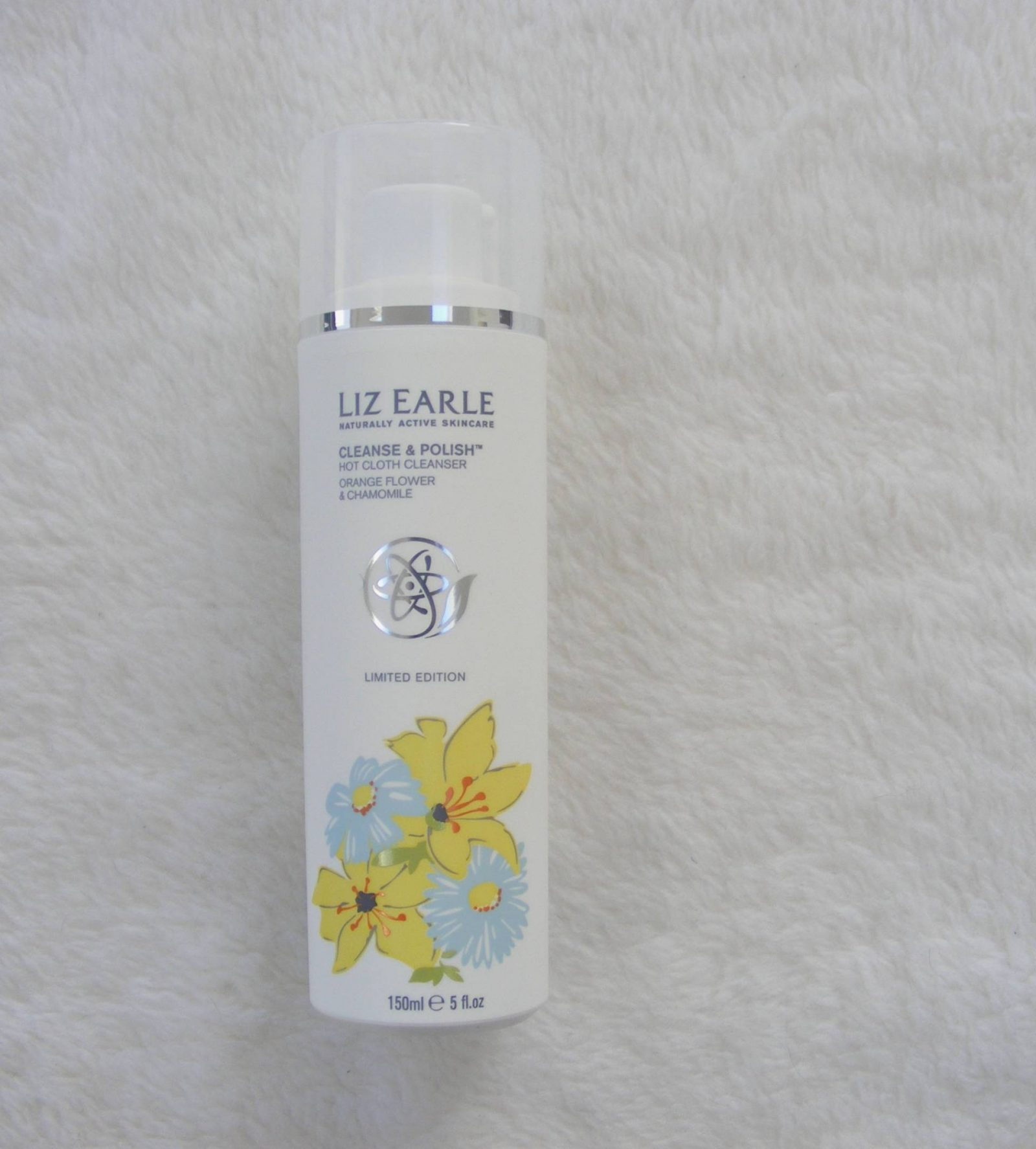 Liz Earle orange flower and chamomile cleanse and polish