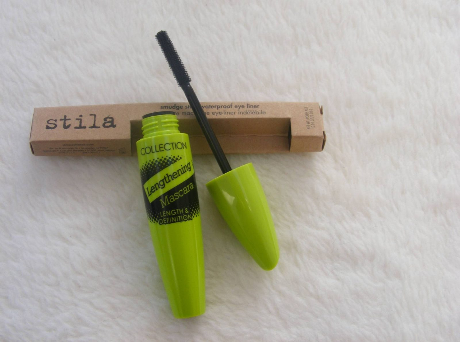Stila eyeliner and Collection mascara