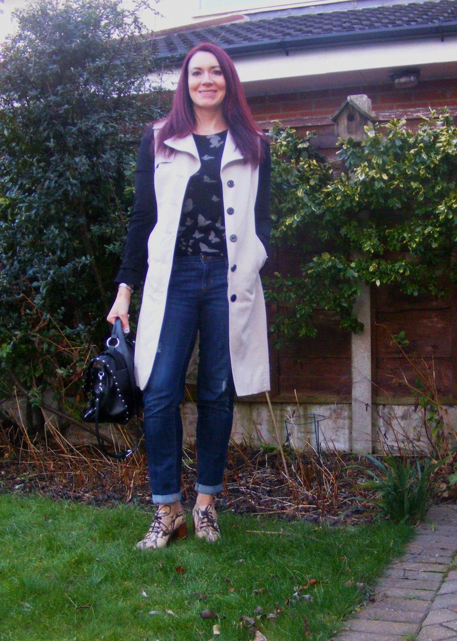 Debenhams monochrome trenchcoat