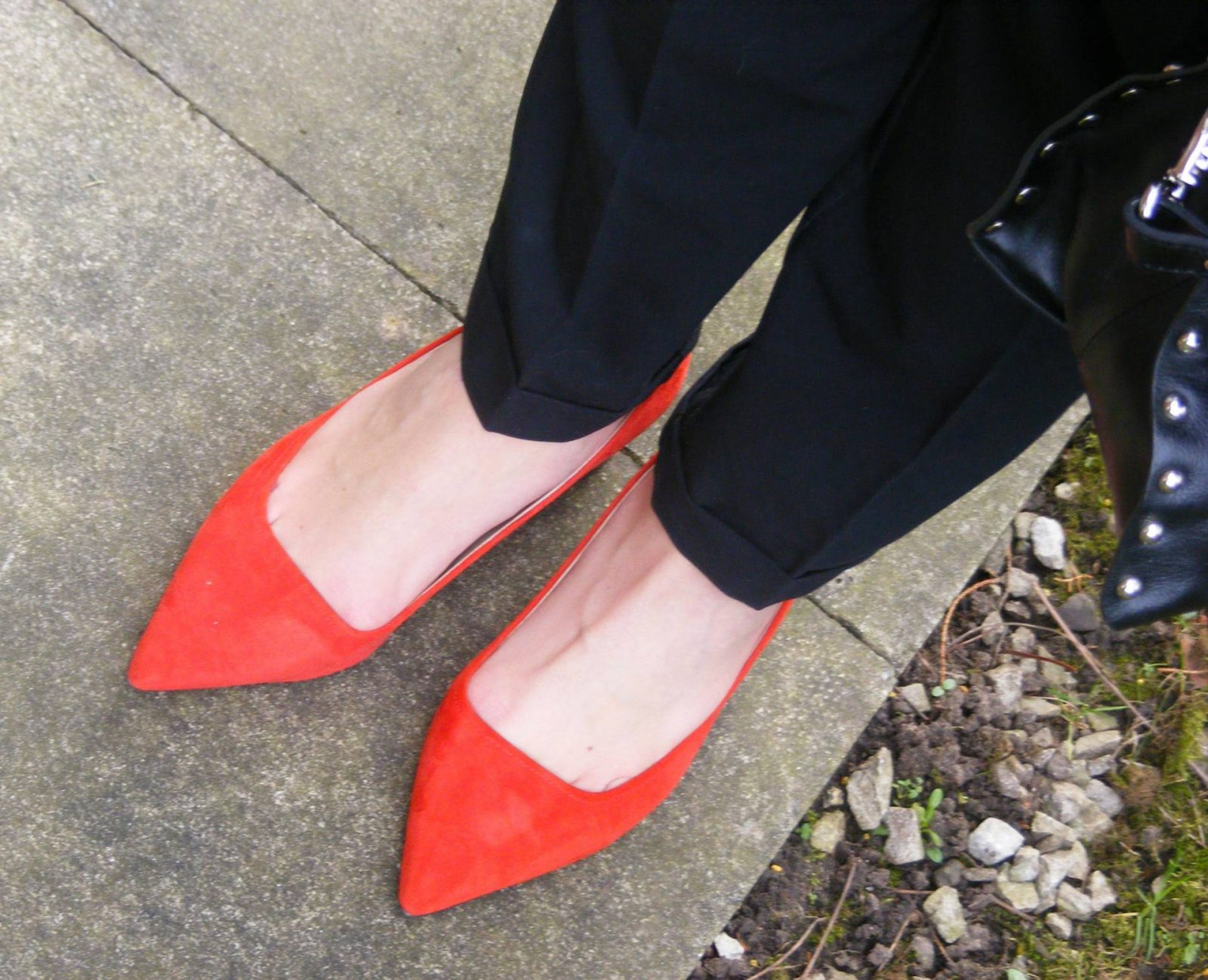 M&S red suede shoes