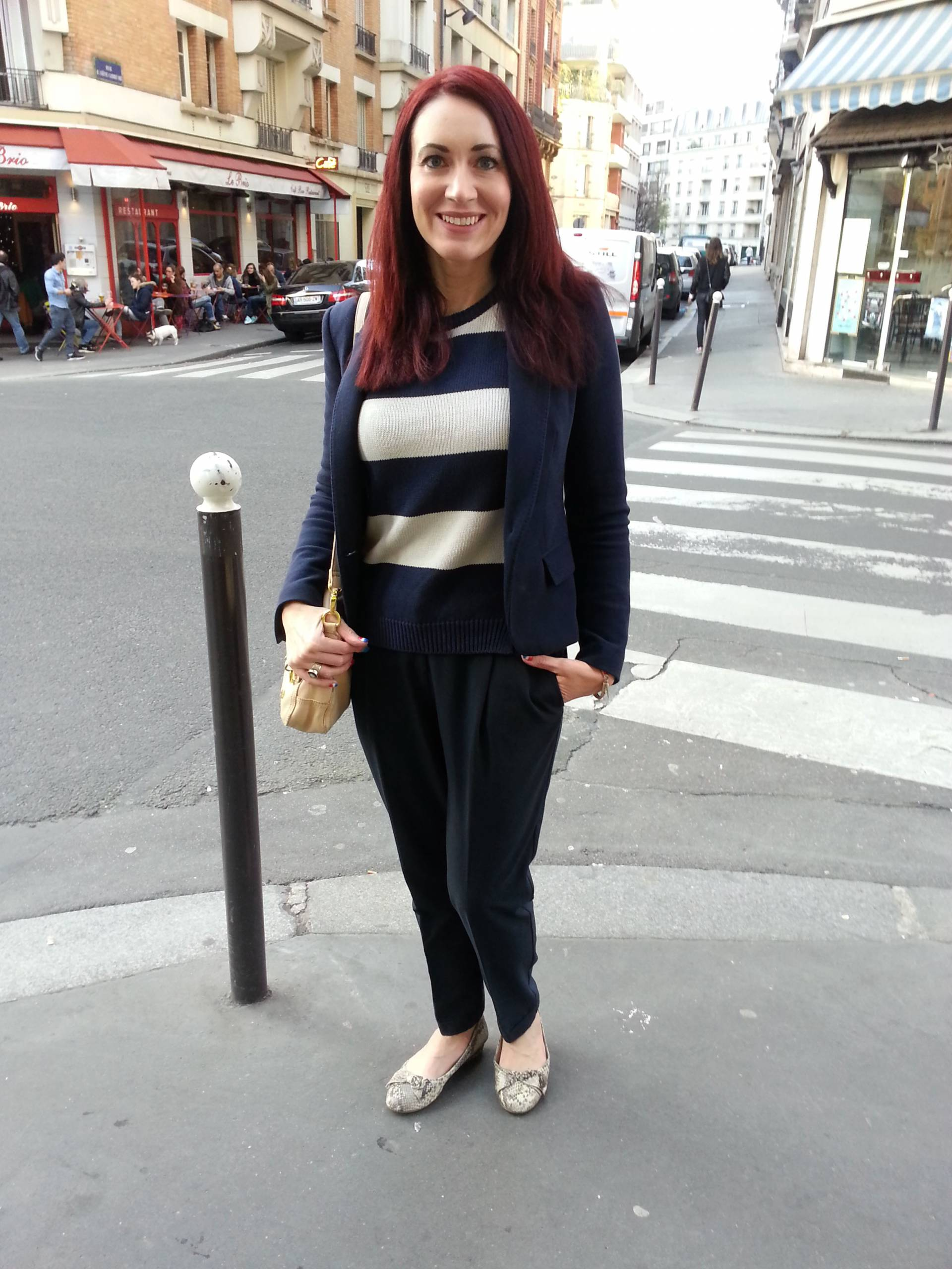 Post Marathon Meal in Montmartre | Chinti and Parker Sweater