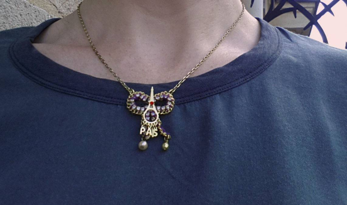 Les Nereides Paris bow necklace