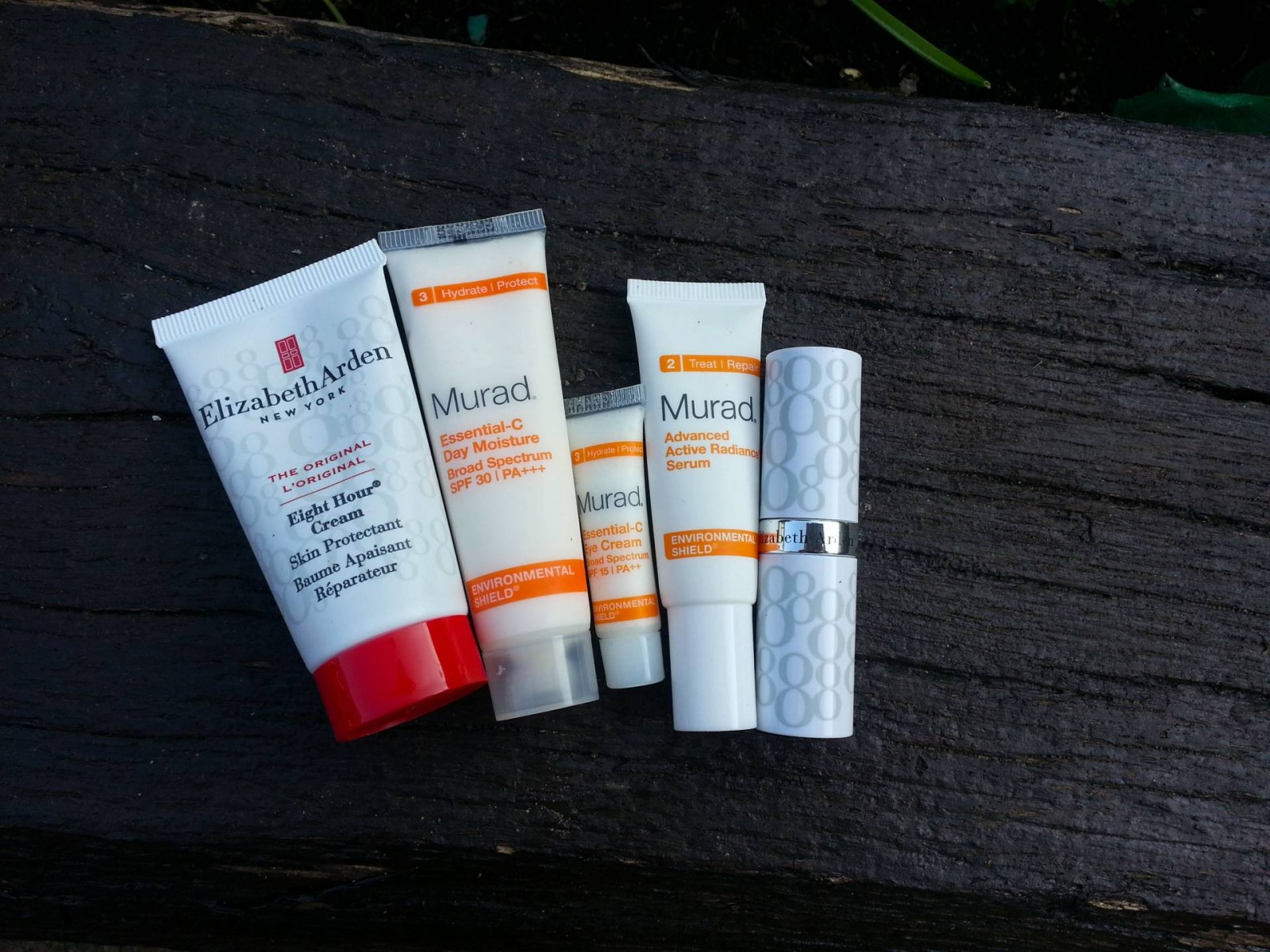 Beauty Essentials for Running Elizabeth Arden Eight Hour Cream Murad Essential-C moisture