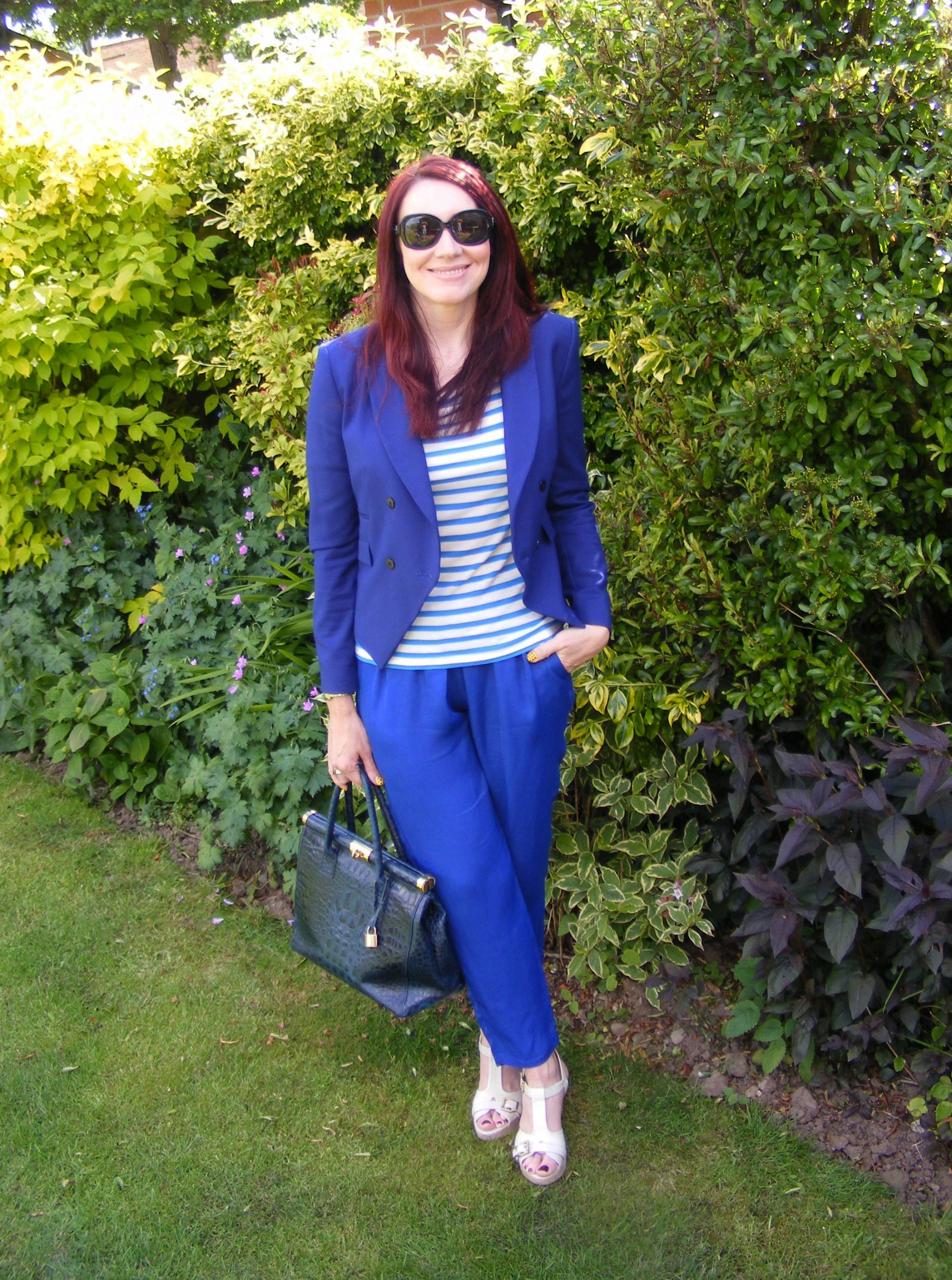 Nautical Stripes | Zara Jacket and Mary Portas Trousers