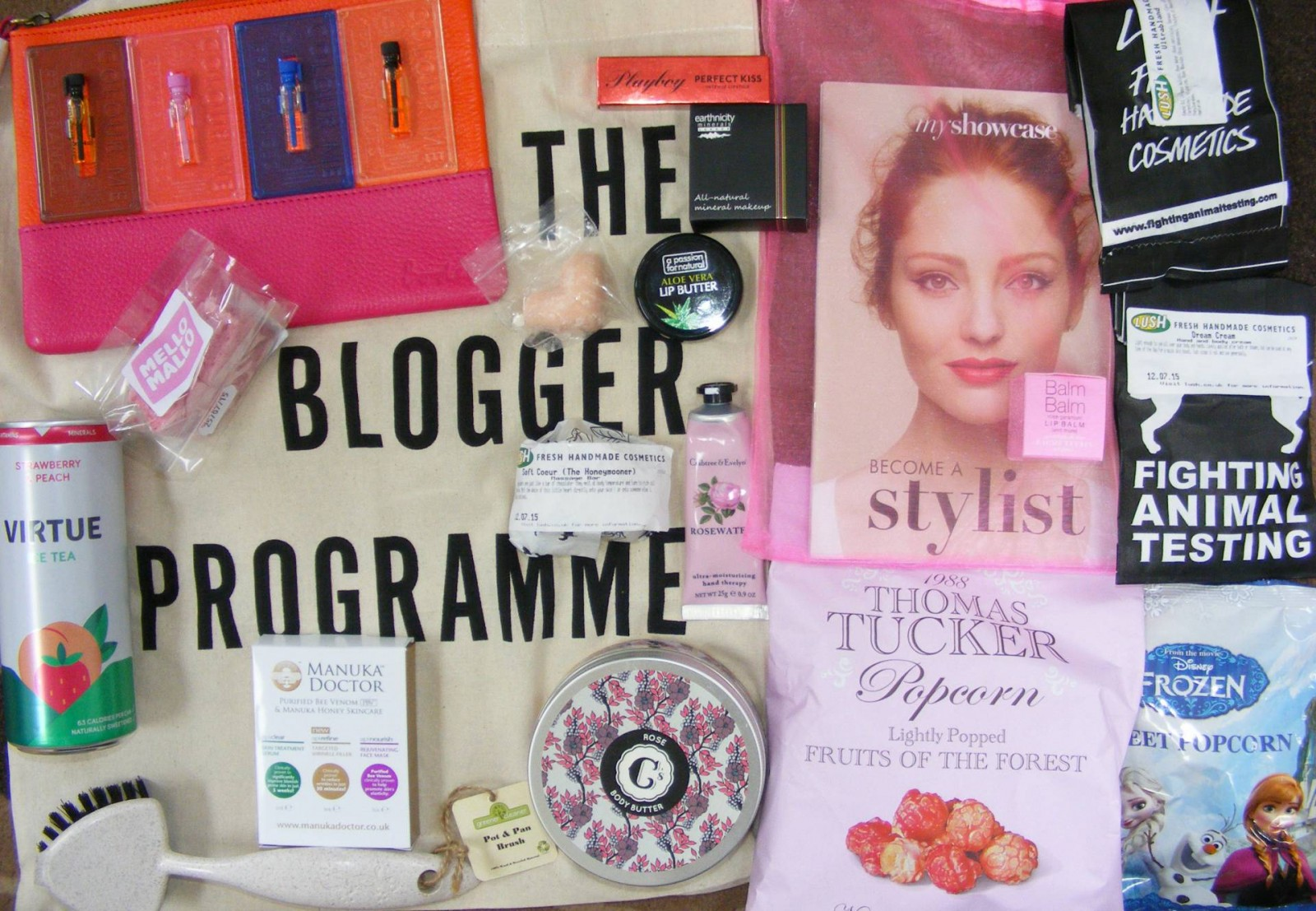 NW bloggers goody bag