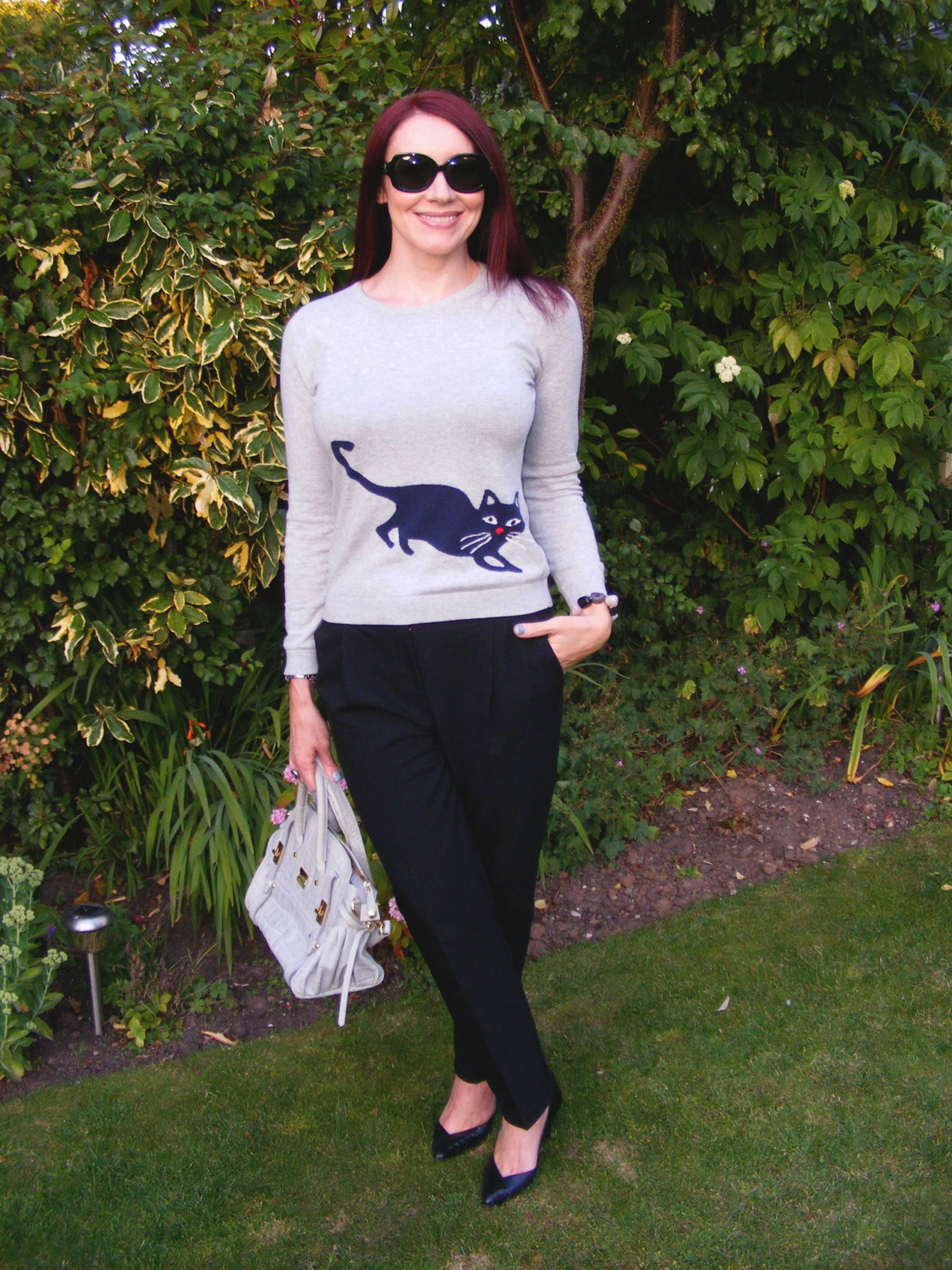 Arabella and Addison cat mouse sweater