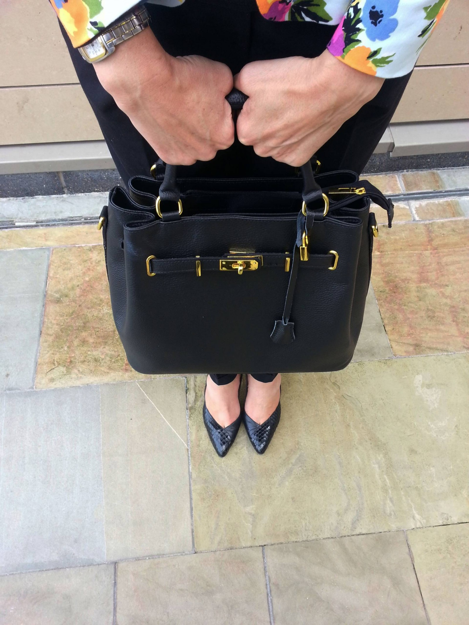 Mila Blu black leather bag