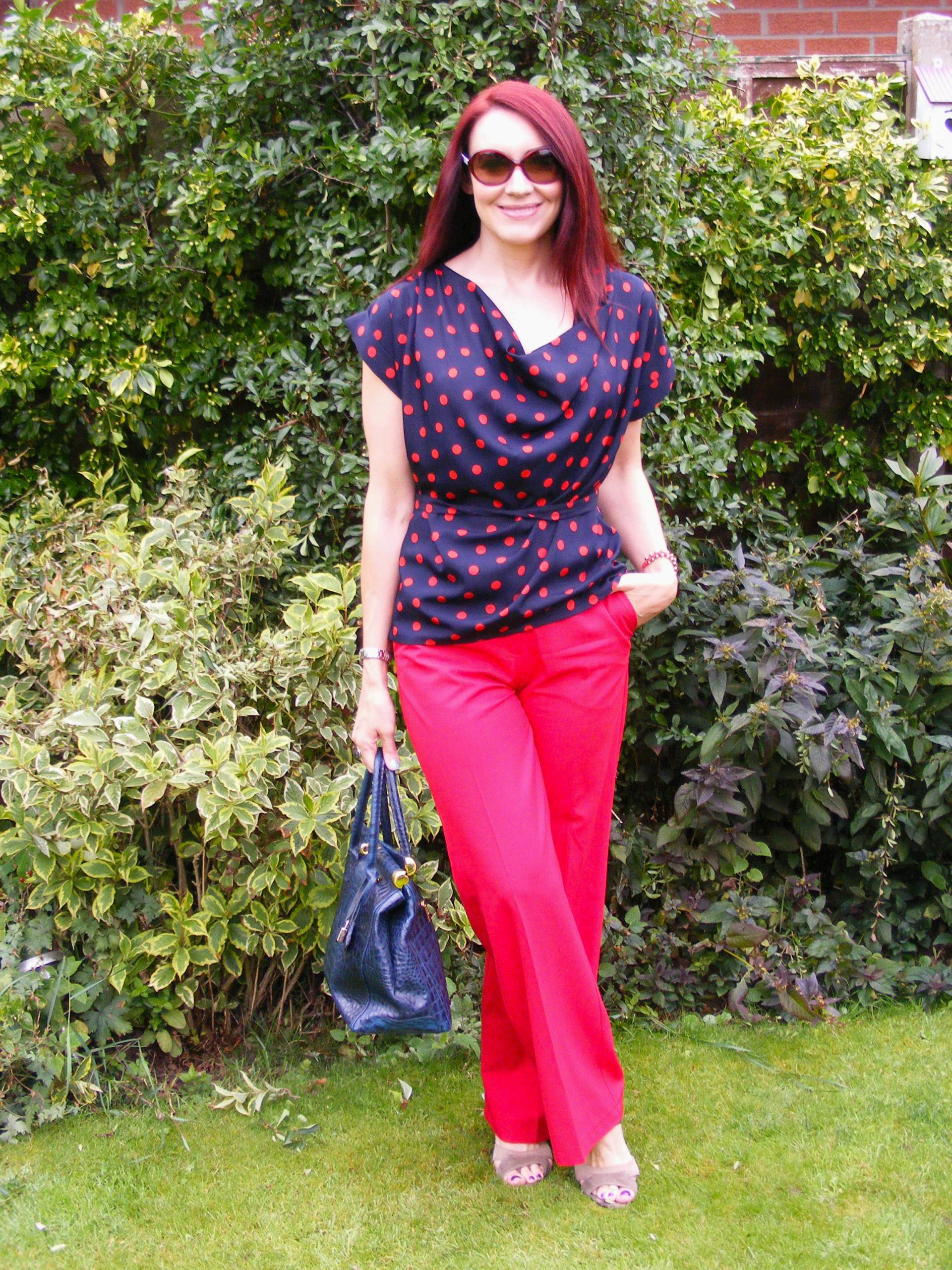 Red Trousers and Polka Dots