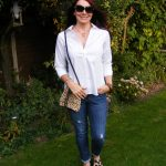White Shirt, Jeans and Leopard Print Accents