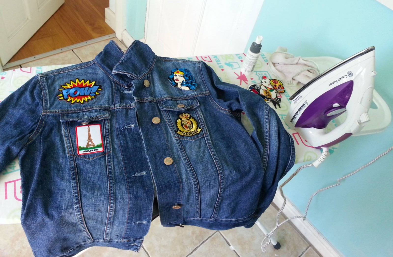 customised denim jacket