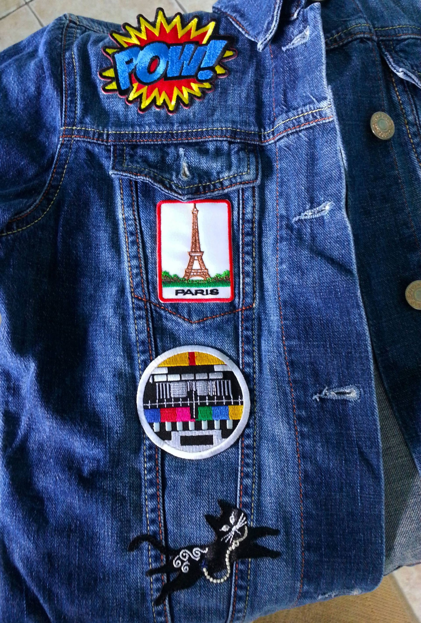 Paris iron on patch