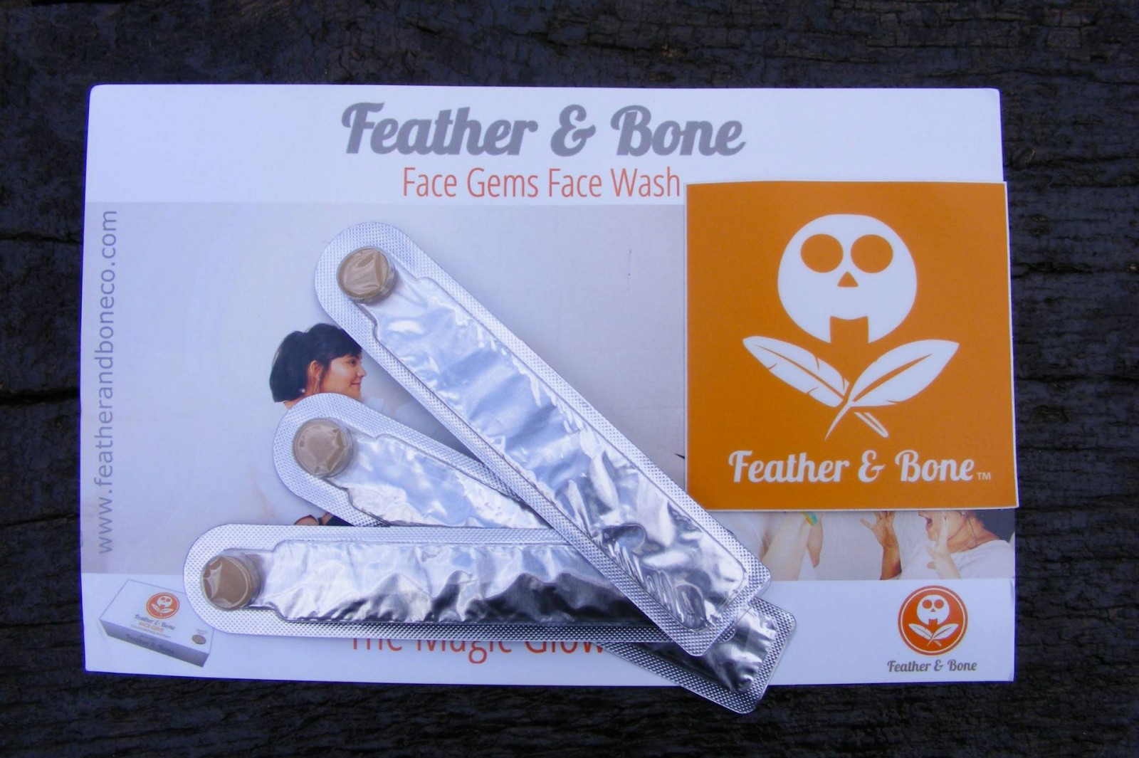Feather and Bone face gems face wash