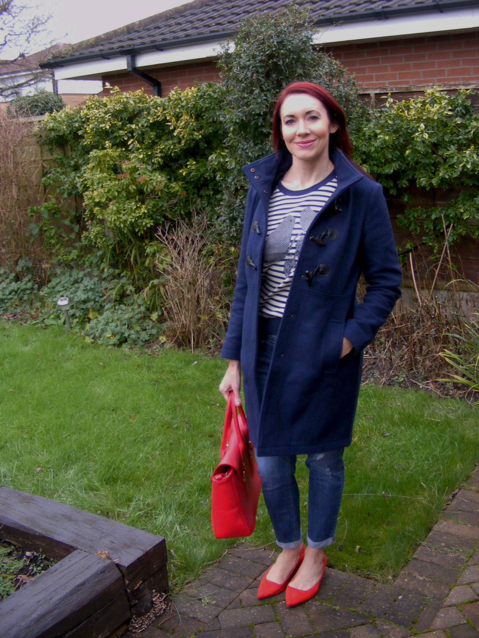Navy Dickens and Jones duffle coat