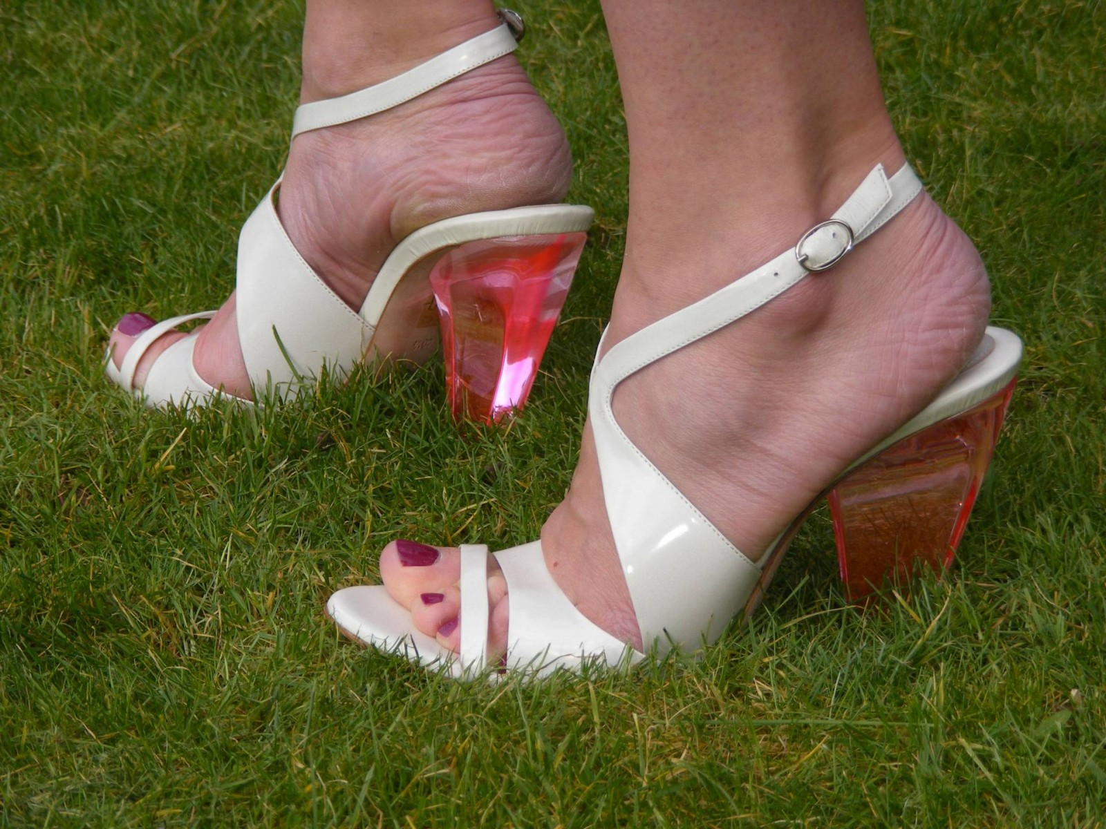 Costume National pink perspex heel sandals