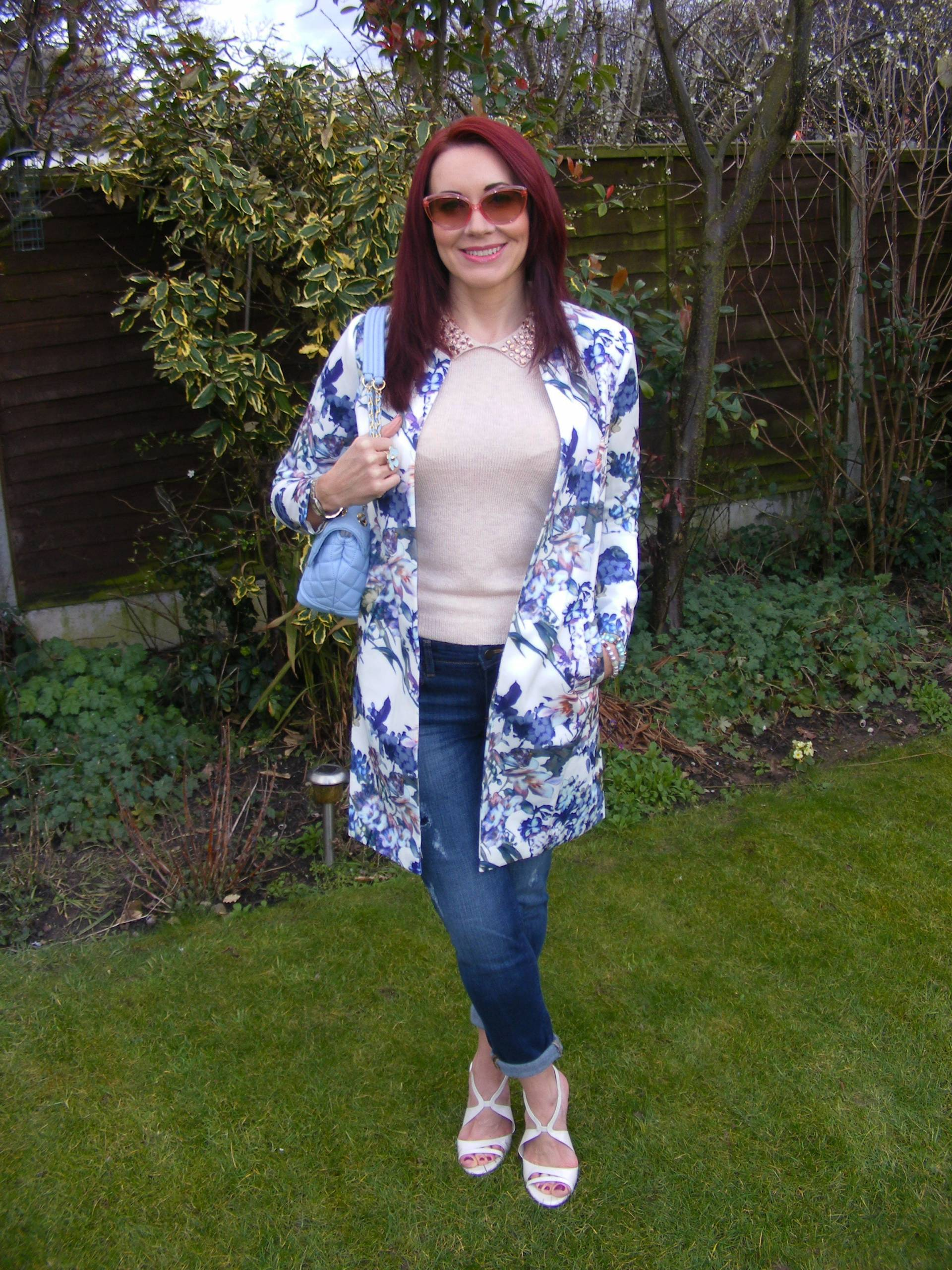 Lorraine Kelly for JD Williams Floral Print Scuba Jacket