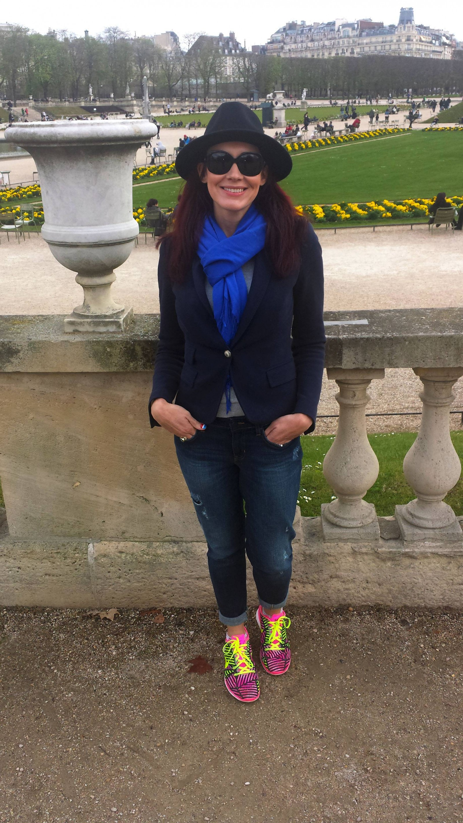 Zara hat and jacket Gap jeans Jardin du Luxembourg