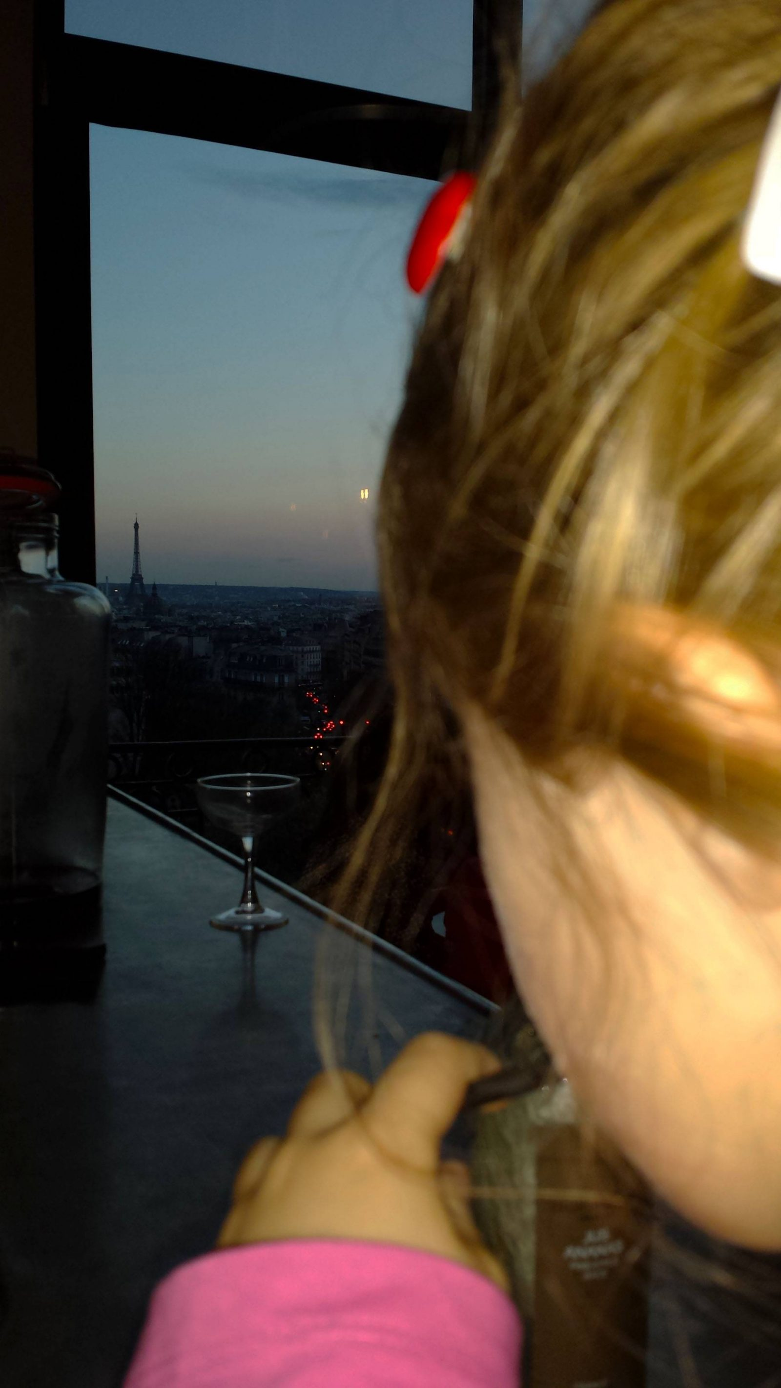 Last Night in Paris at the Terrasse Hotel Montmartre bar view Eiffel Tower