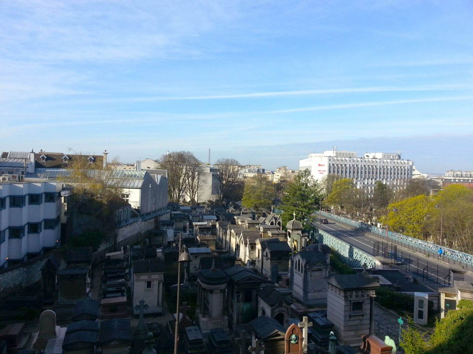Last Night in Paris at the Terrasse Hotel Montmartre view from room