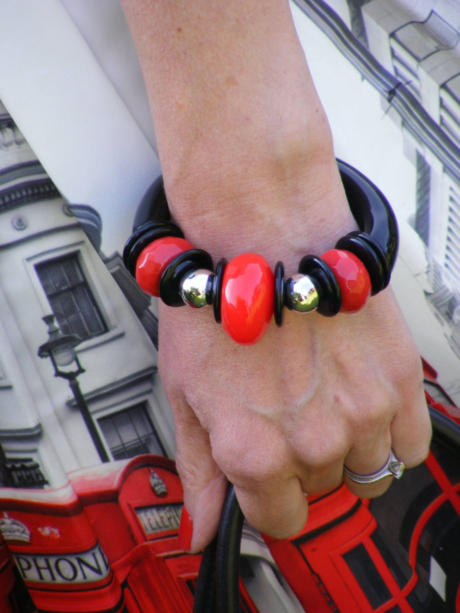 red and black bangle