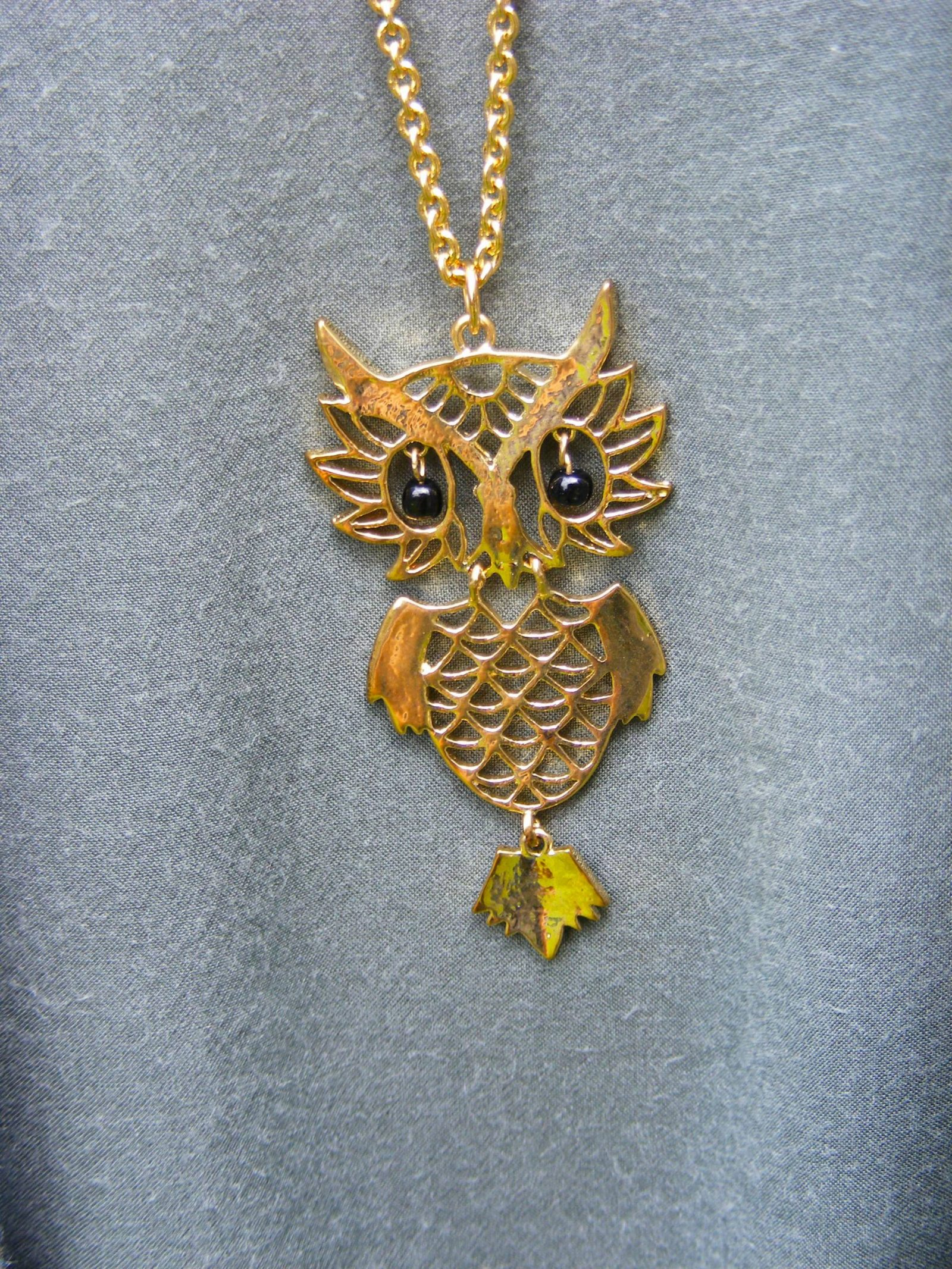 Past Times long owl necklace