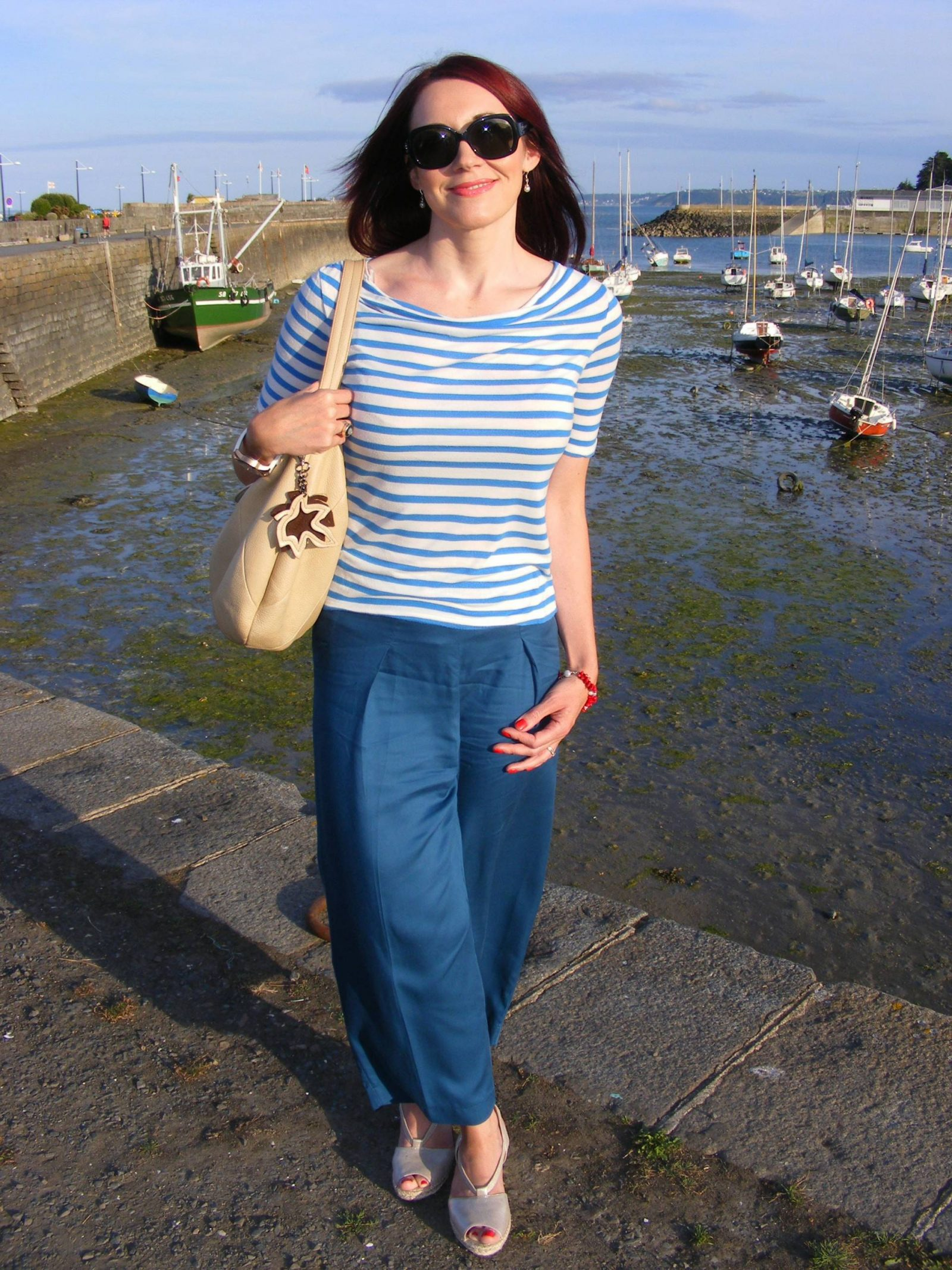 Breton Stripes and Asos Culottes