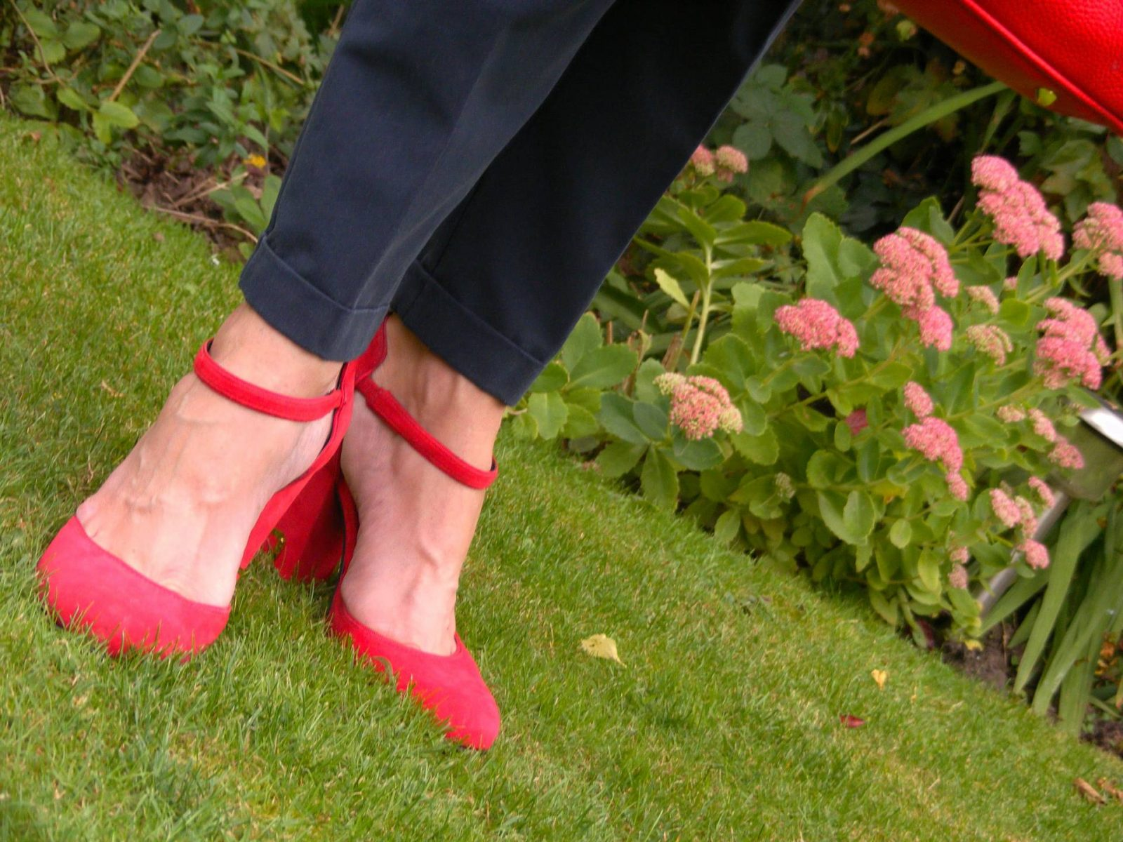 Biba red suede shoes