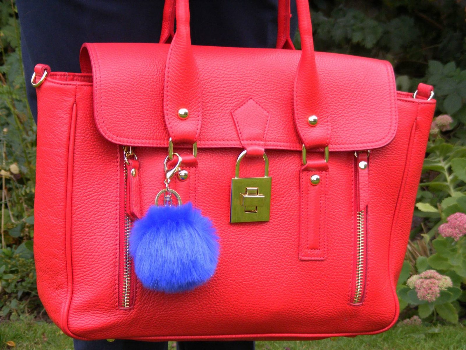 Mila Blu red leather bag