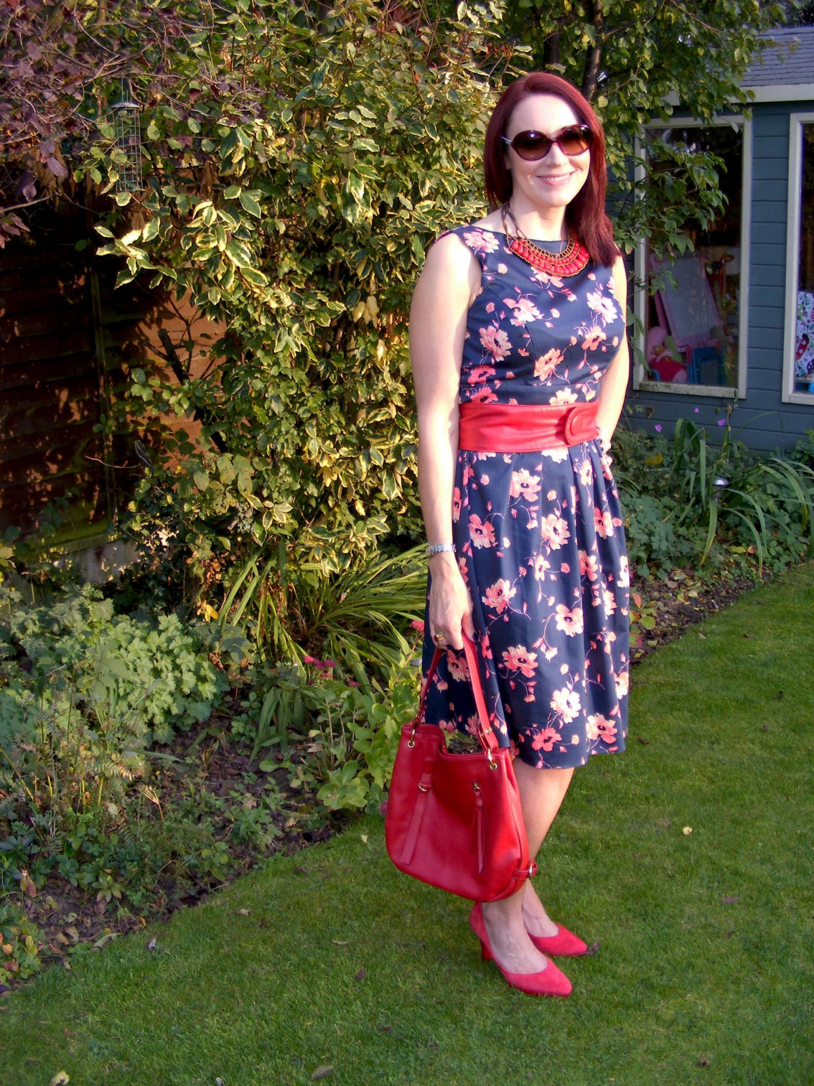 Bonmarché Floral Sateen Dress