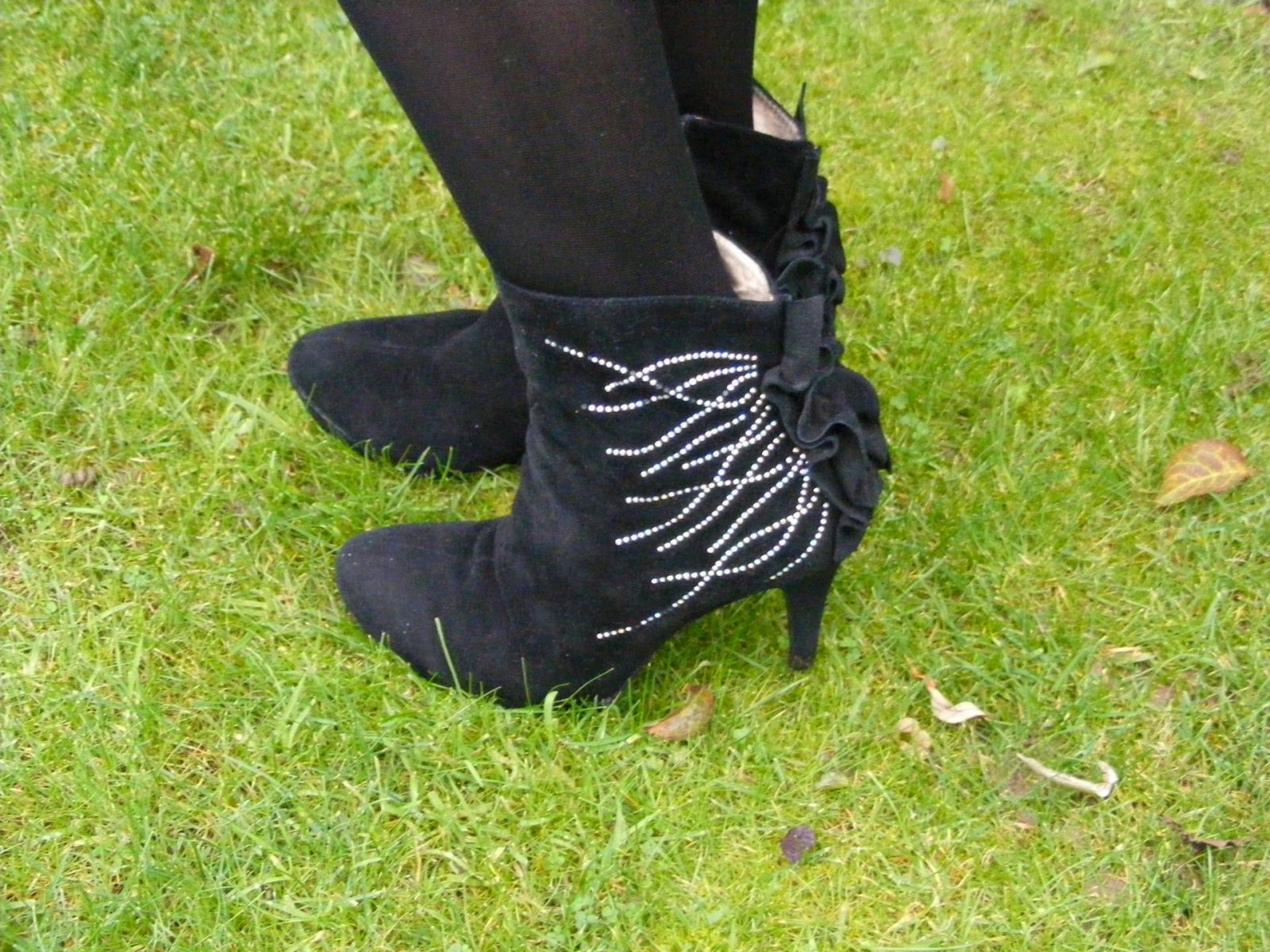 Laceys of London diamante ankle boots