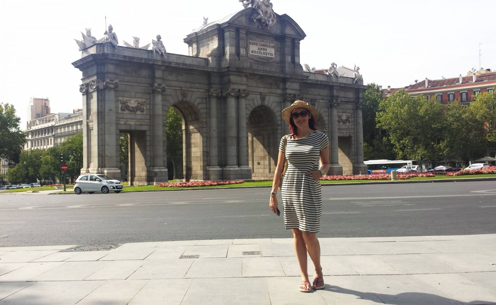 White Stuff striped jersey dress Puerta de Alcalá