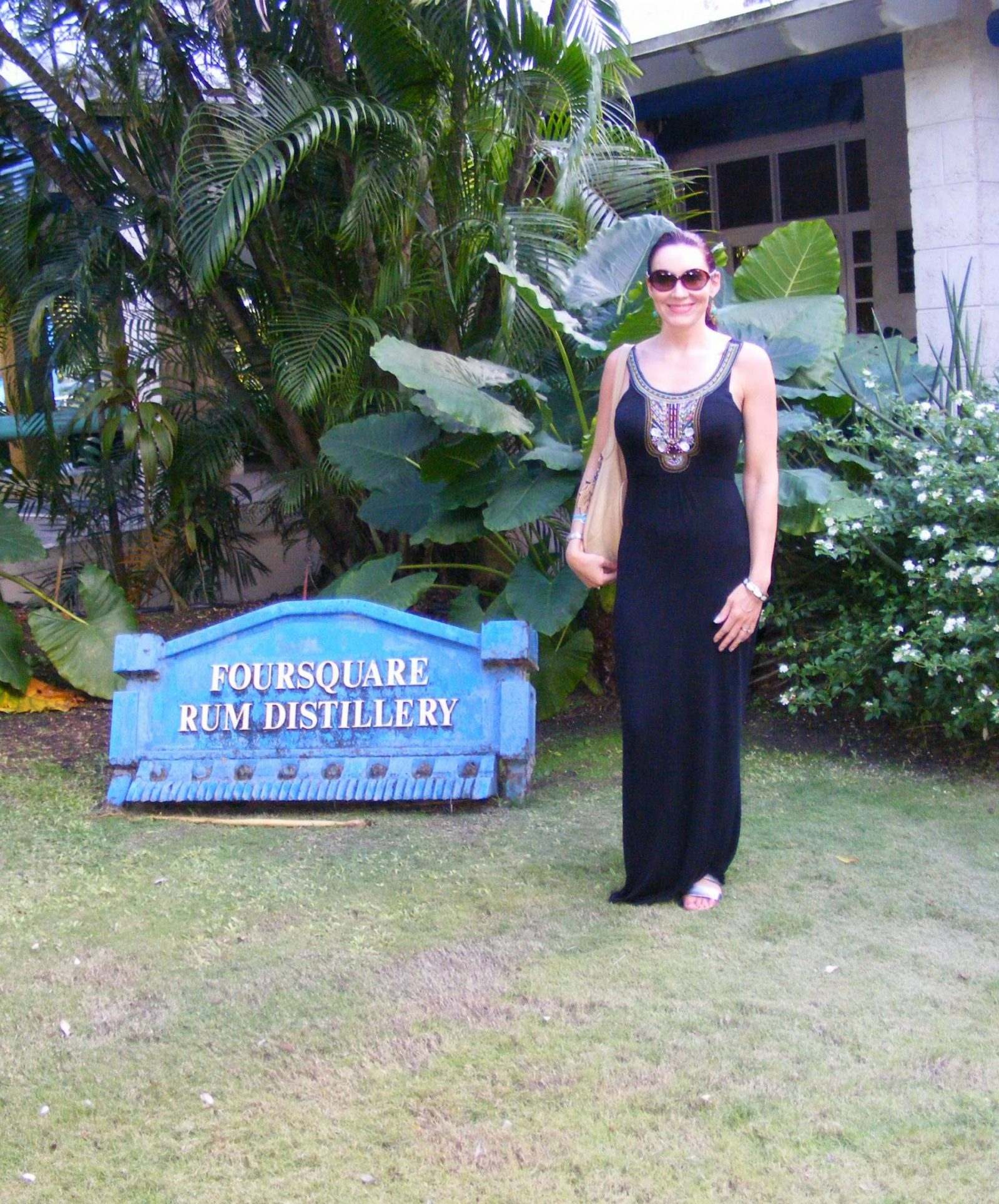 Beaded Maxi Dress in Barbados