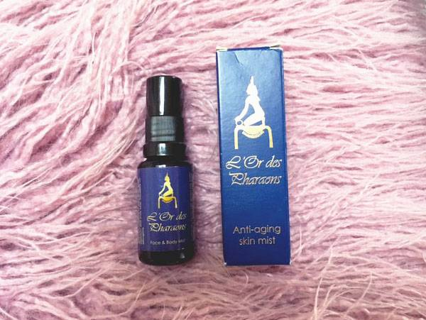 January Beauty Favourites L'Or des Pharaons Face & Body Mist