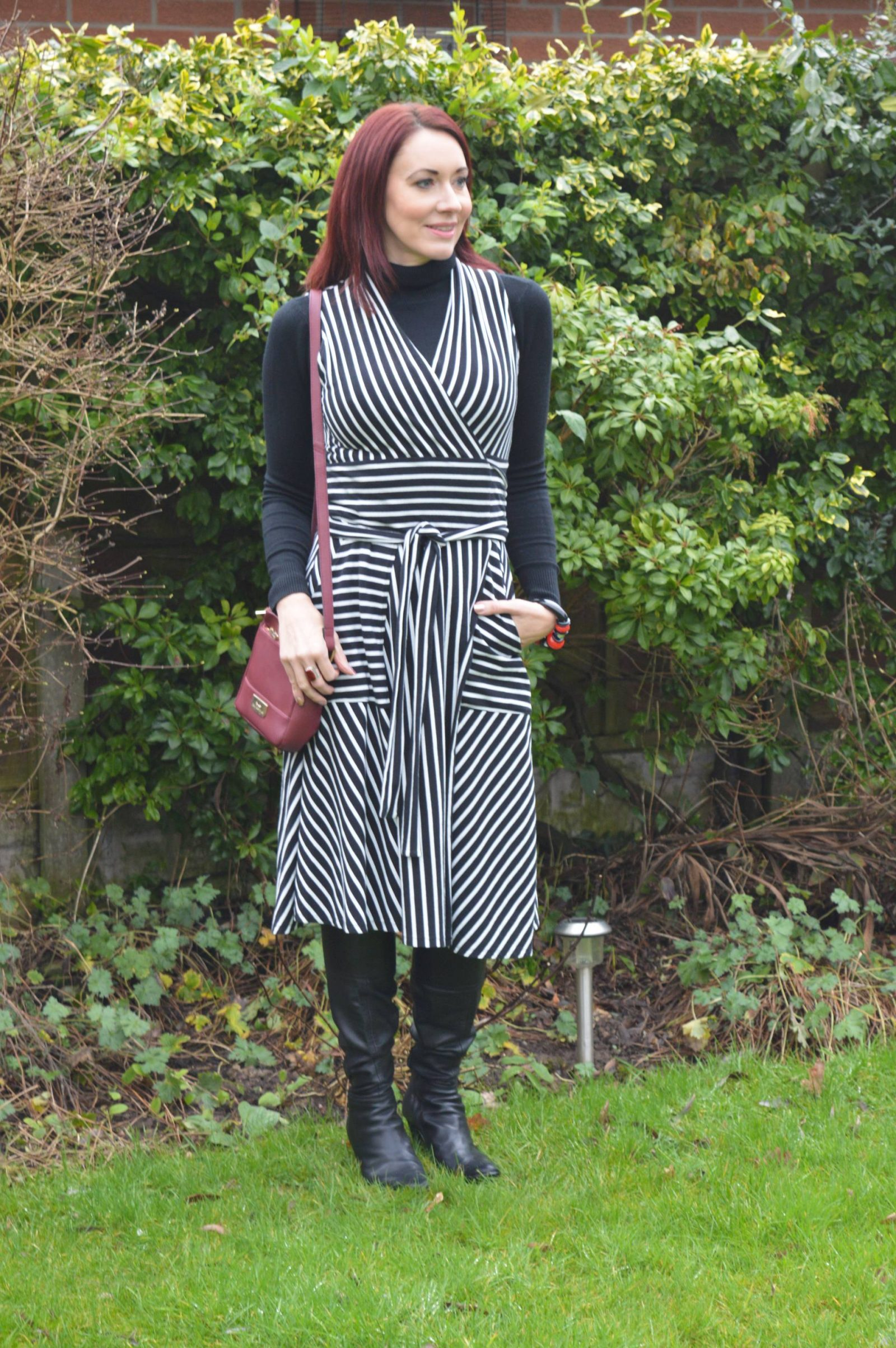 Styling a Winser Wrap Dress For Winter and Summer