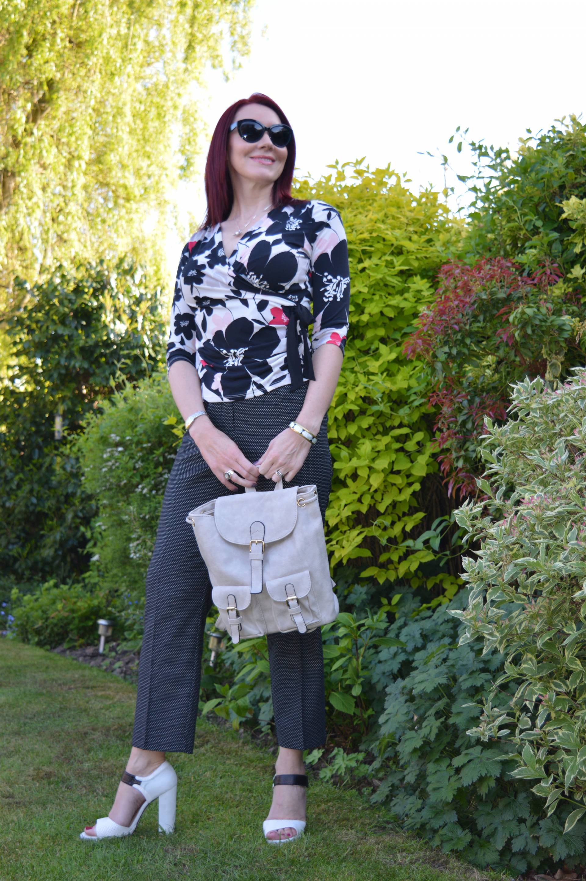 Pattern Mixing With Floral Print and Spots + Style With a Smile Link Up