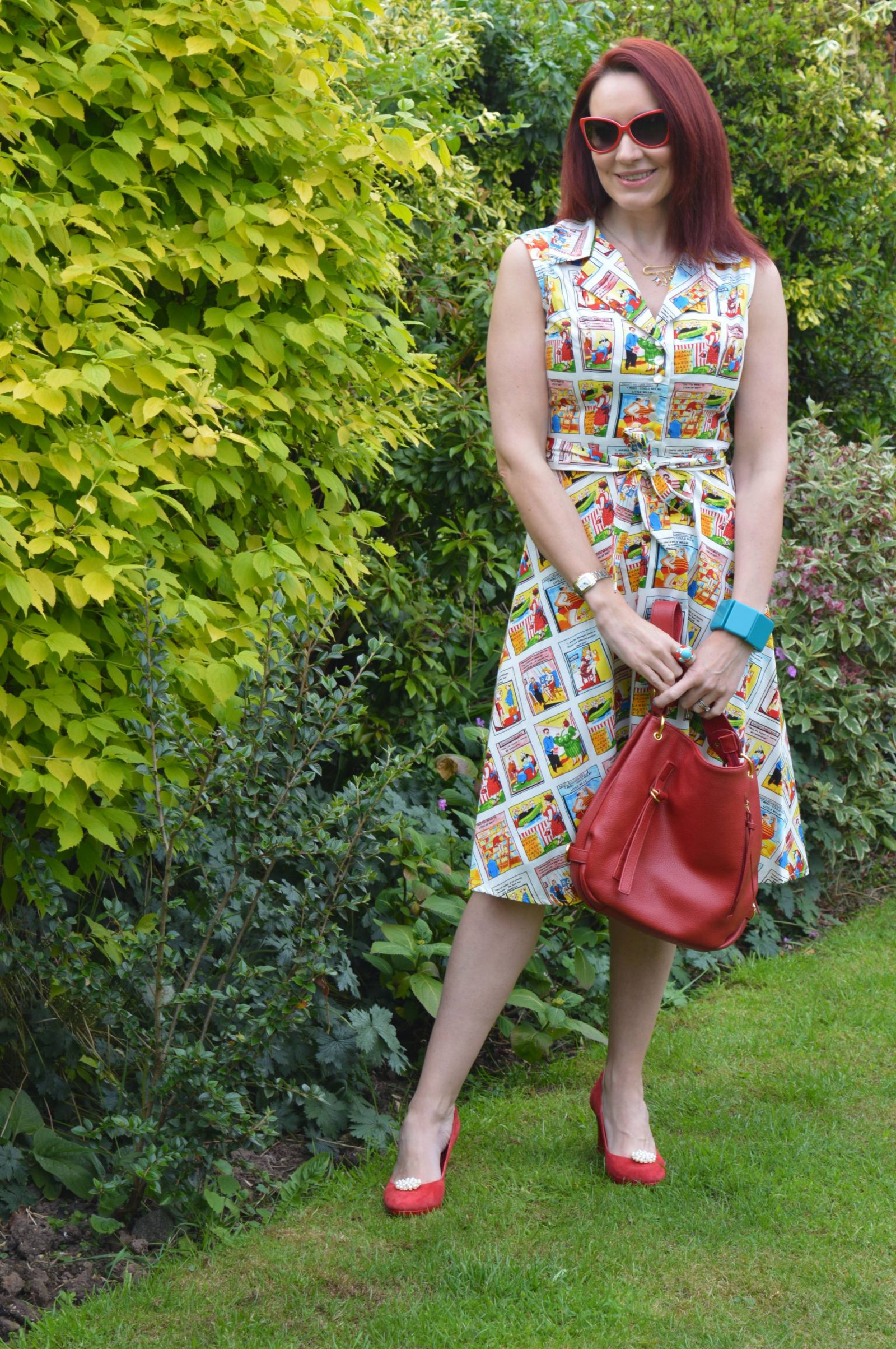 British Retro Saucy Postcard dress