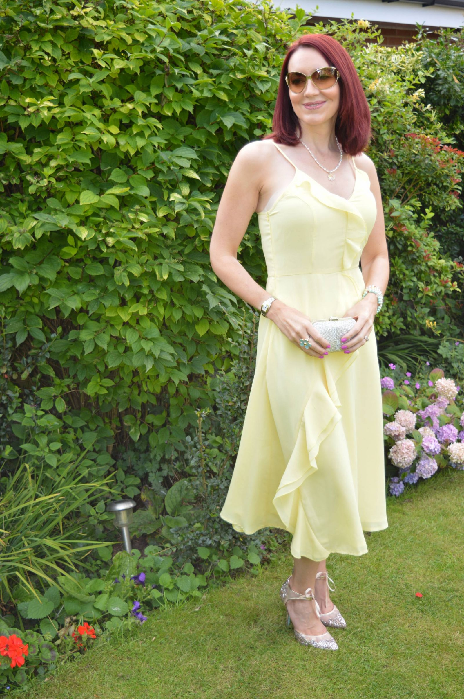 Wedding Guest Dresses From PrettyLittleThing Dallia lemon ruffle dress