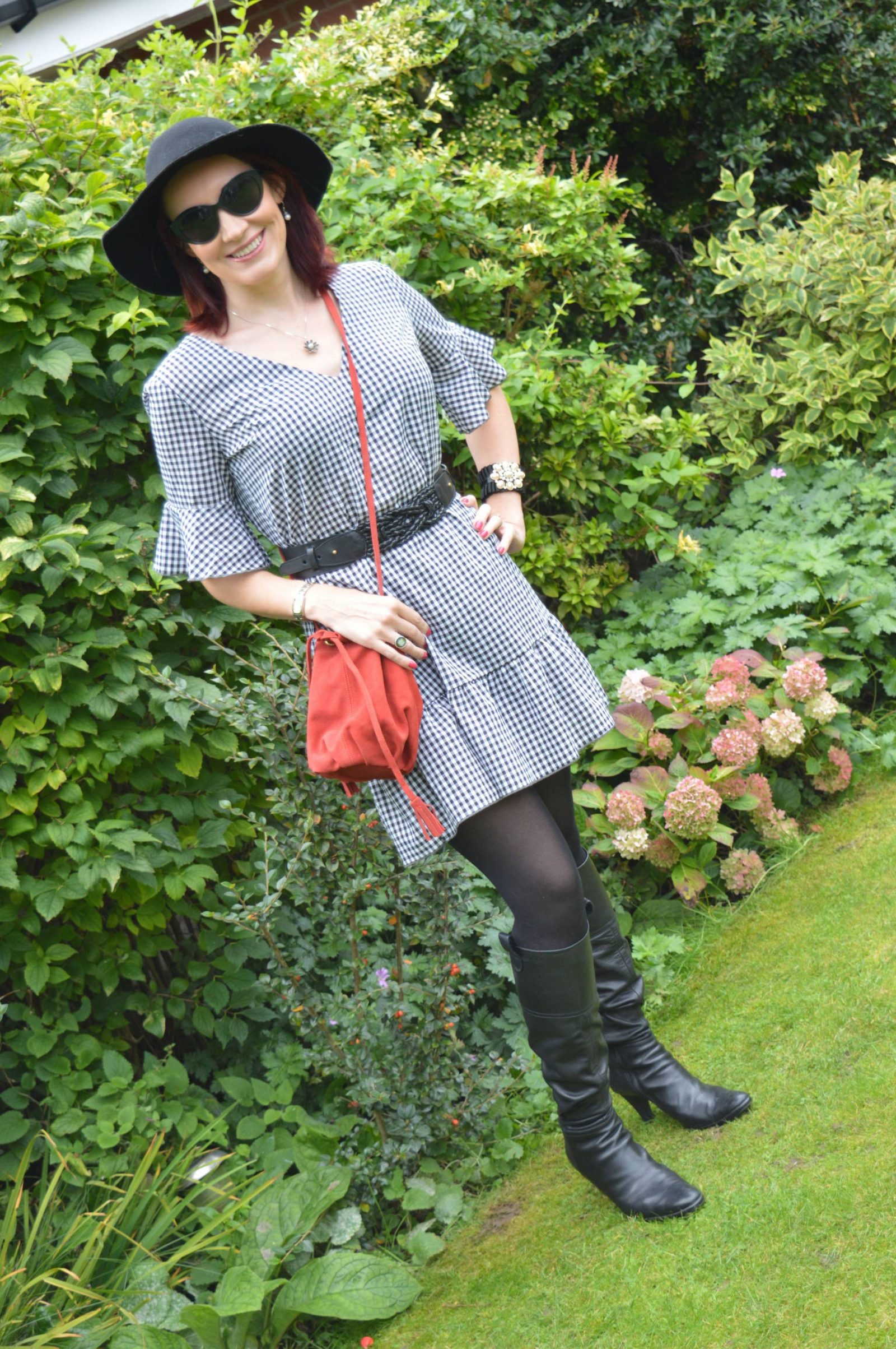 Matching Gingham Dresses and Boots