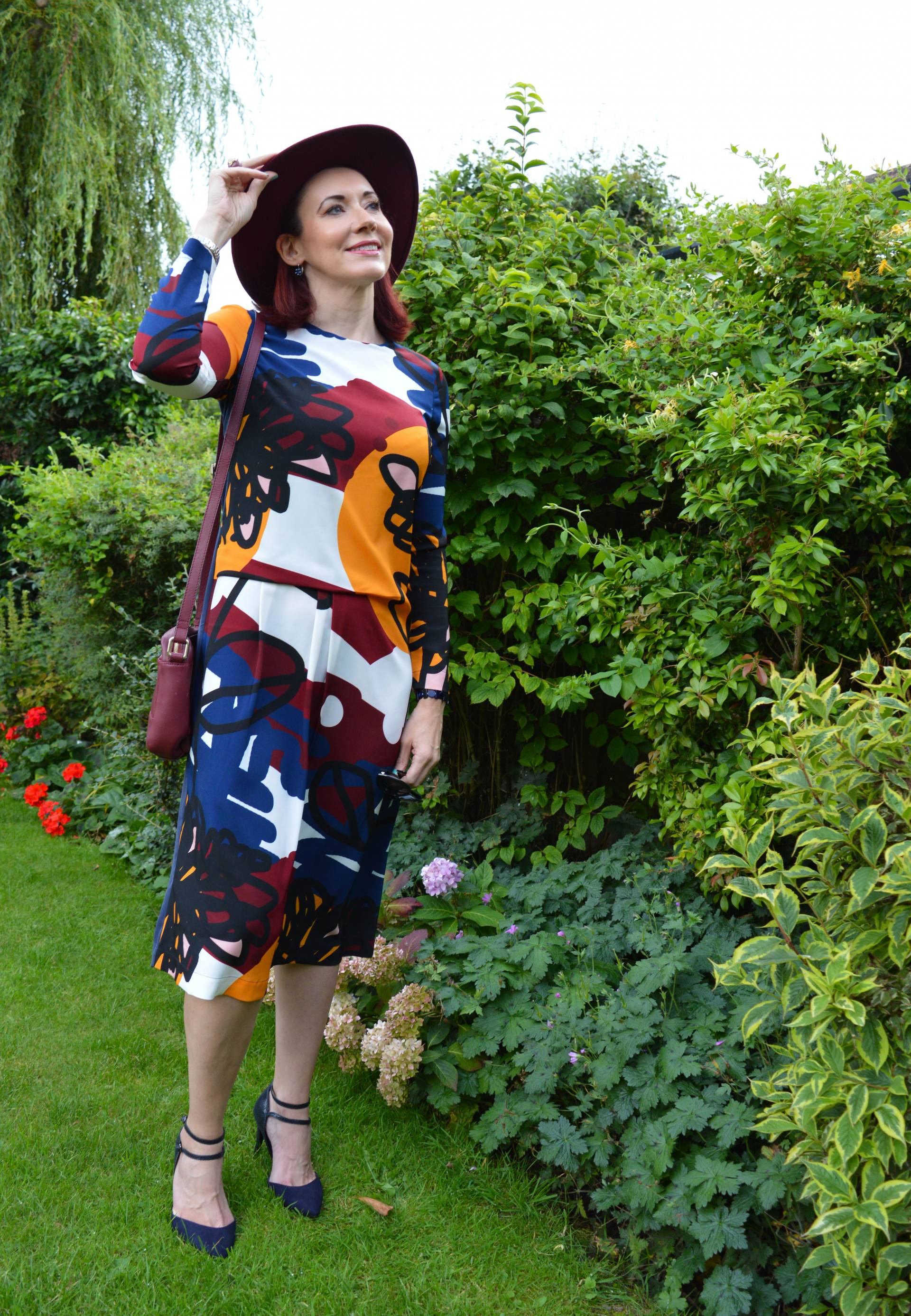 Finery Graffiti Floral Print Dress + Style With a Smile Link Up