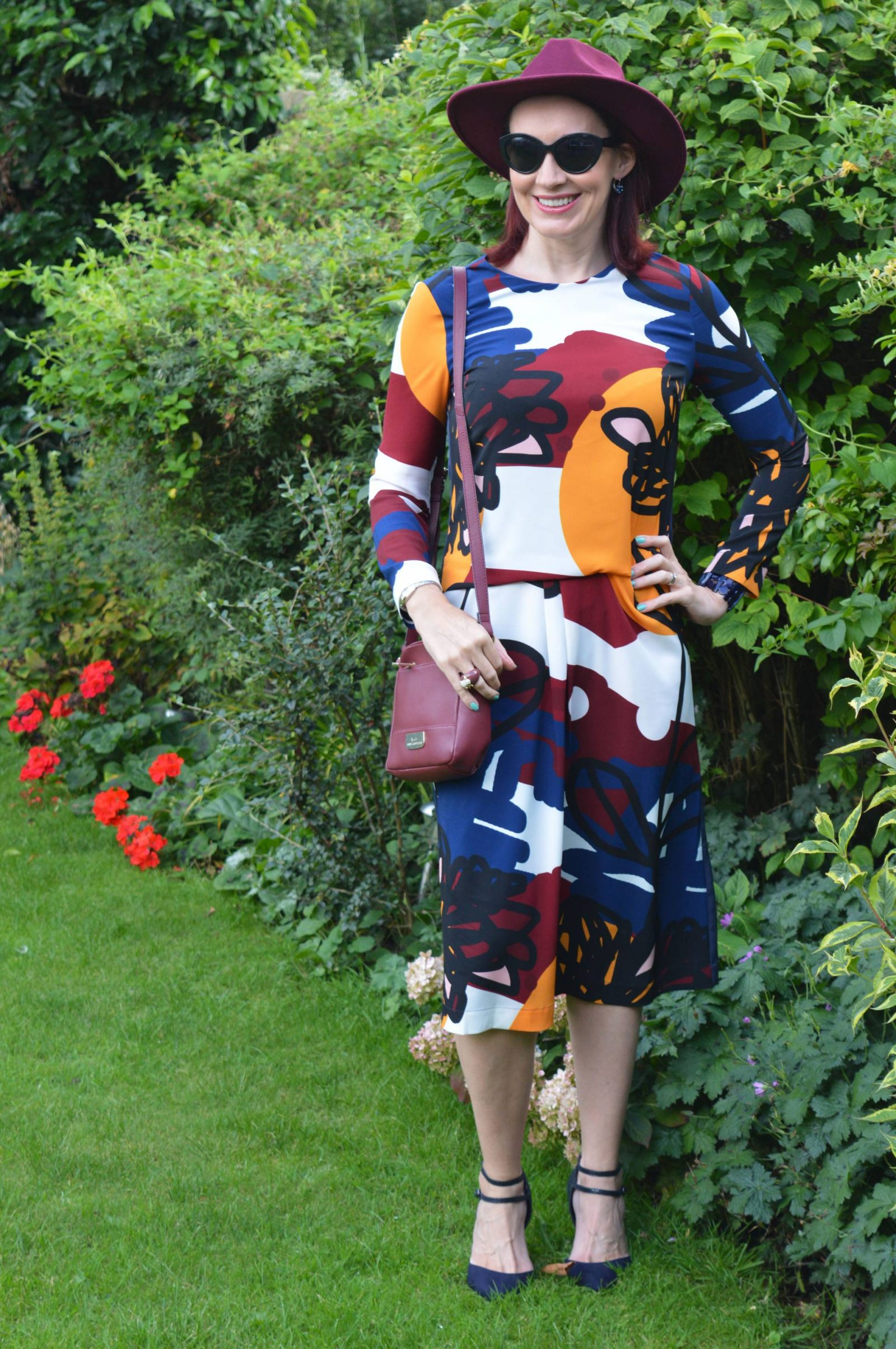 Finery Graffiti Floral Print Dress