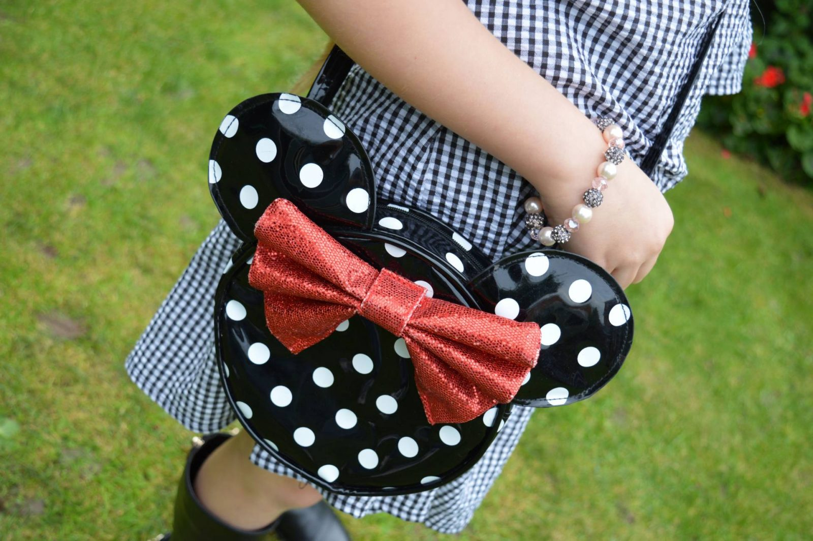 Matching Gingham Dresses and Boots Minnie Mouse bag