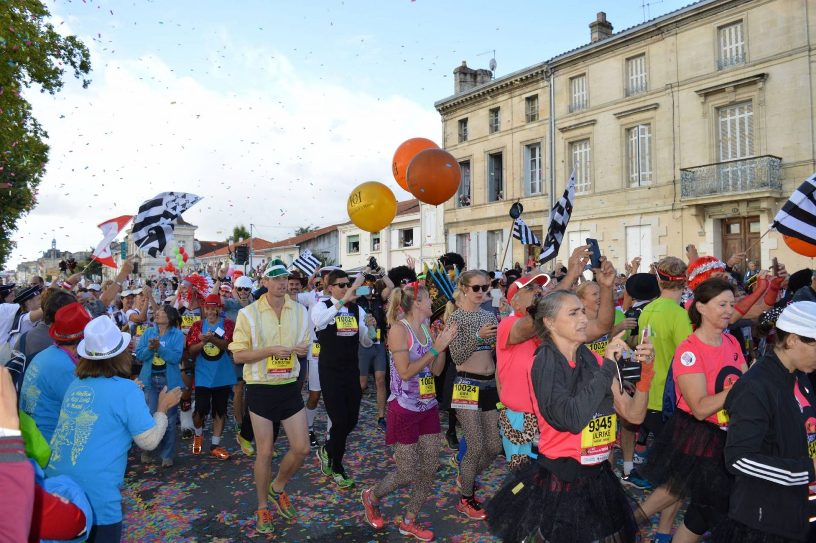 Running the Marathon du Medoc start line